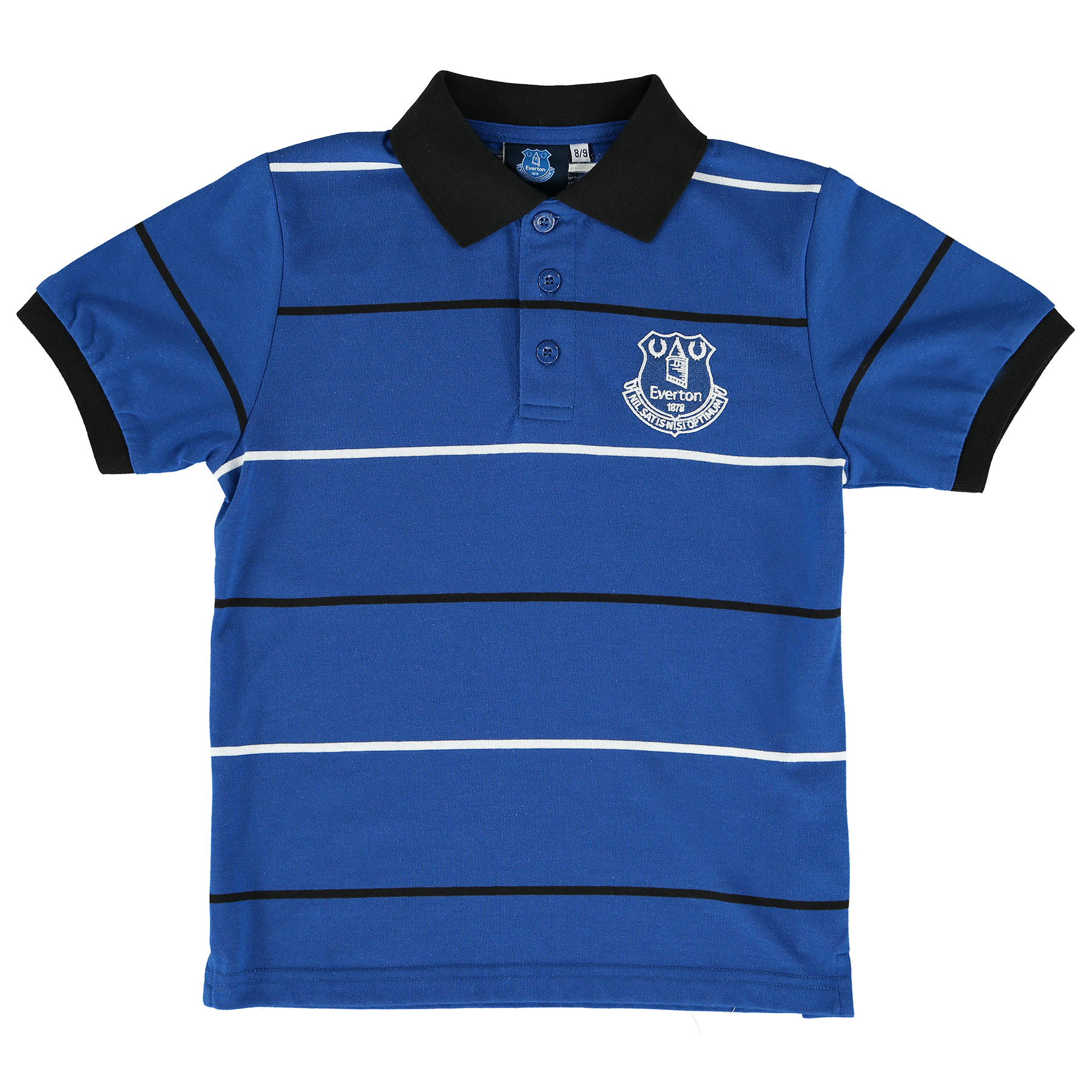 Everton Essentials Stripe Polo Shirt - Royal - Junior