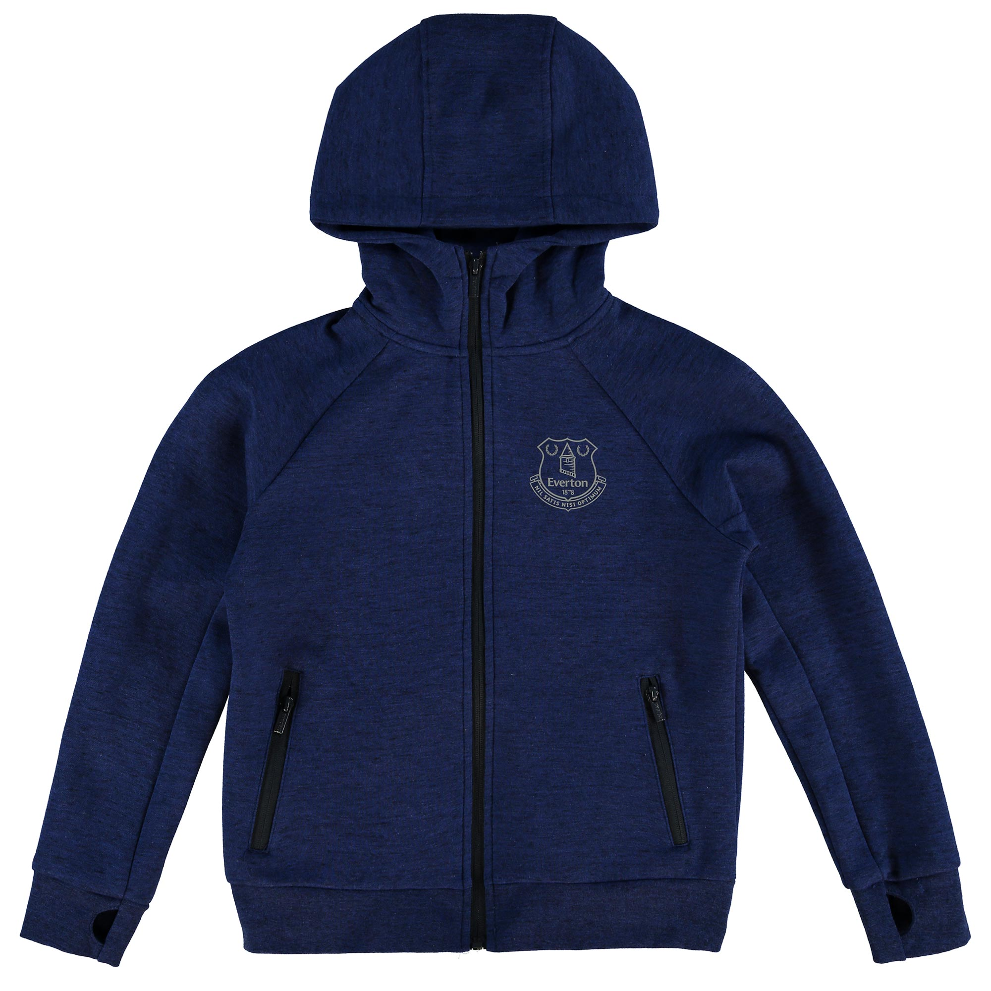 Everton Sport Full Zip Hoodie - Royal/Black Marl - Junior