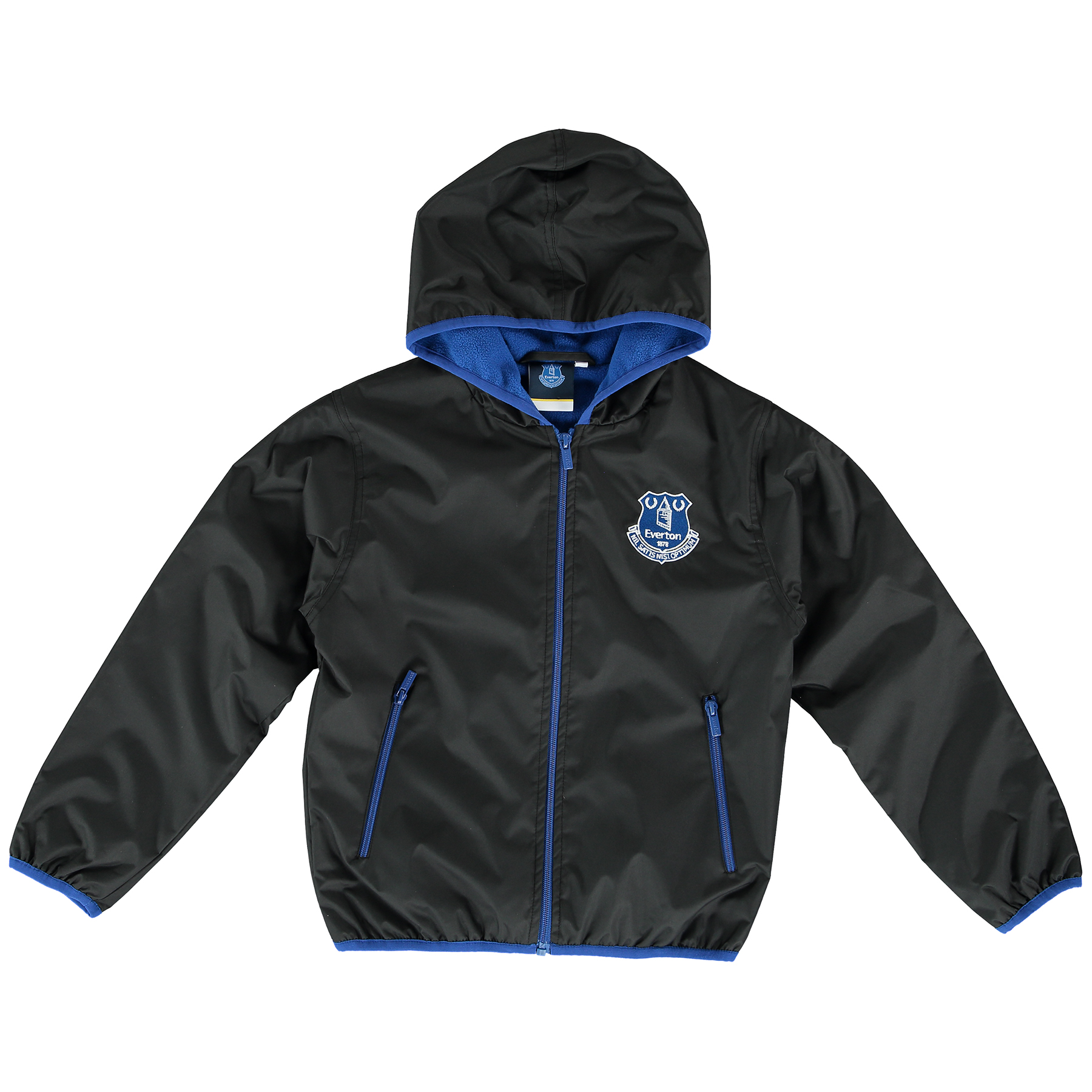 Everton Essentials Shower Jacket - Black - Junior