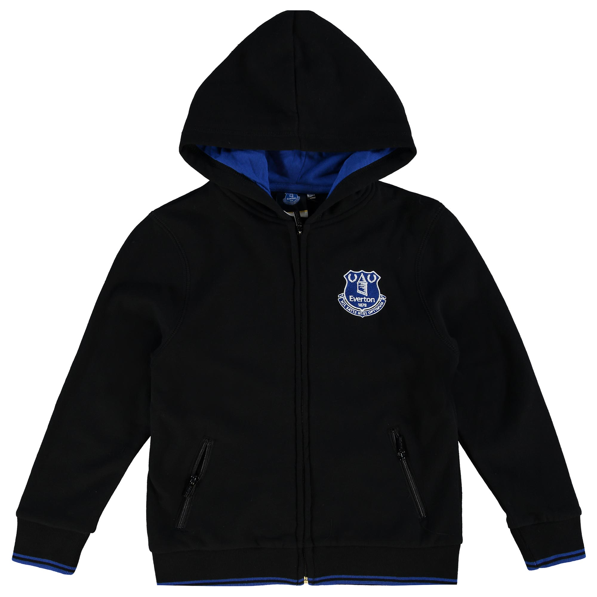 Everton Essentials Full Zip Hoodie - Black - Junior