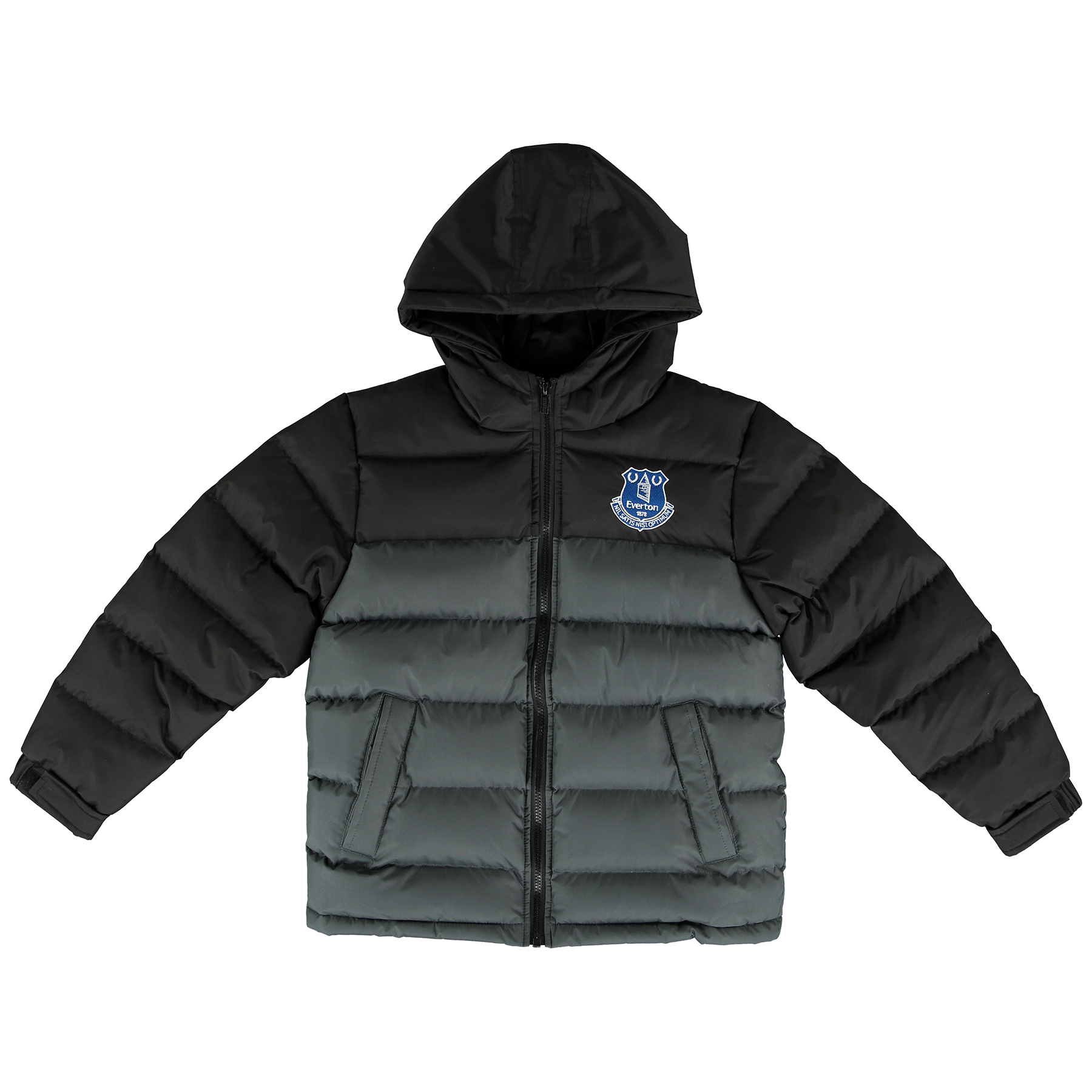 Everton Essentials Padded Coat- Grey/Black - Junior