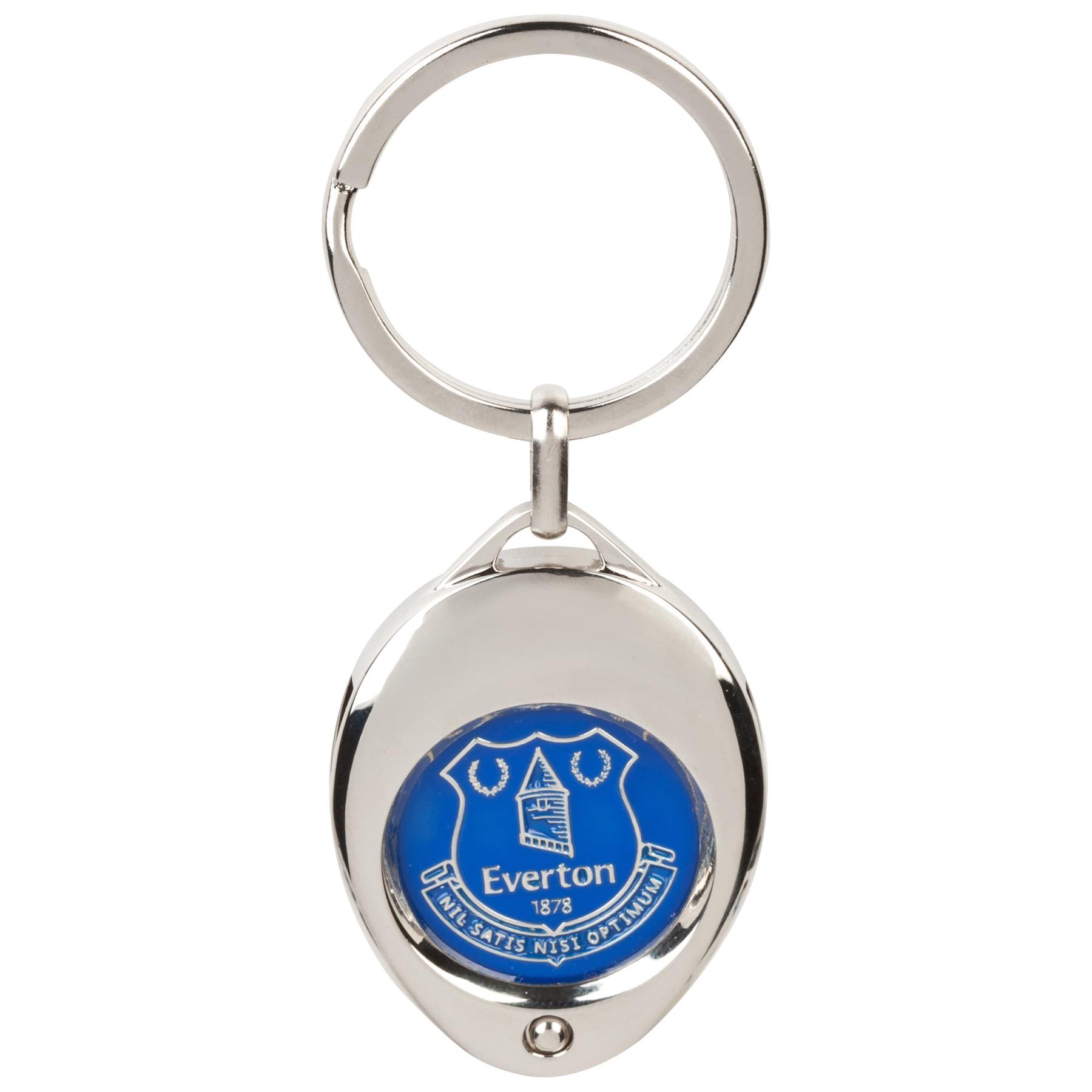 Everton Trolley Coin Keyring