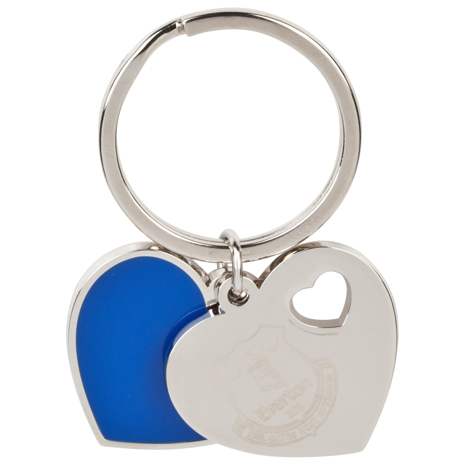 Everton Double Heart Keyring