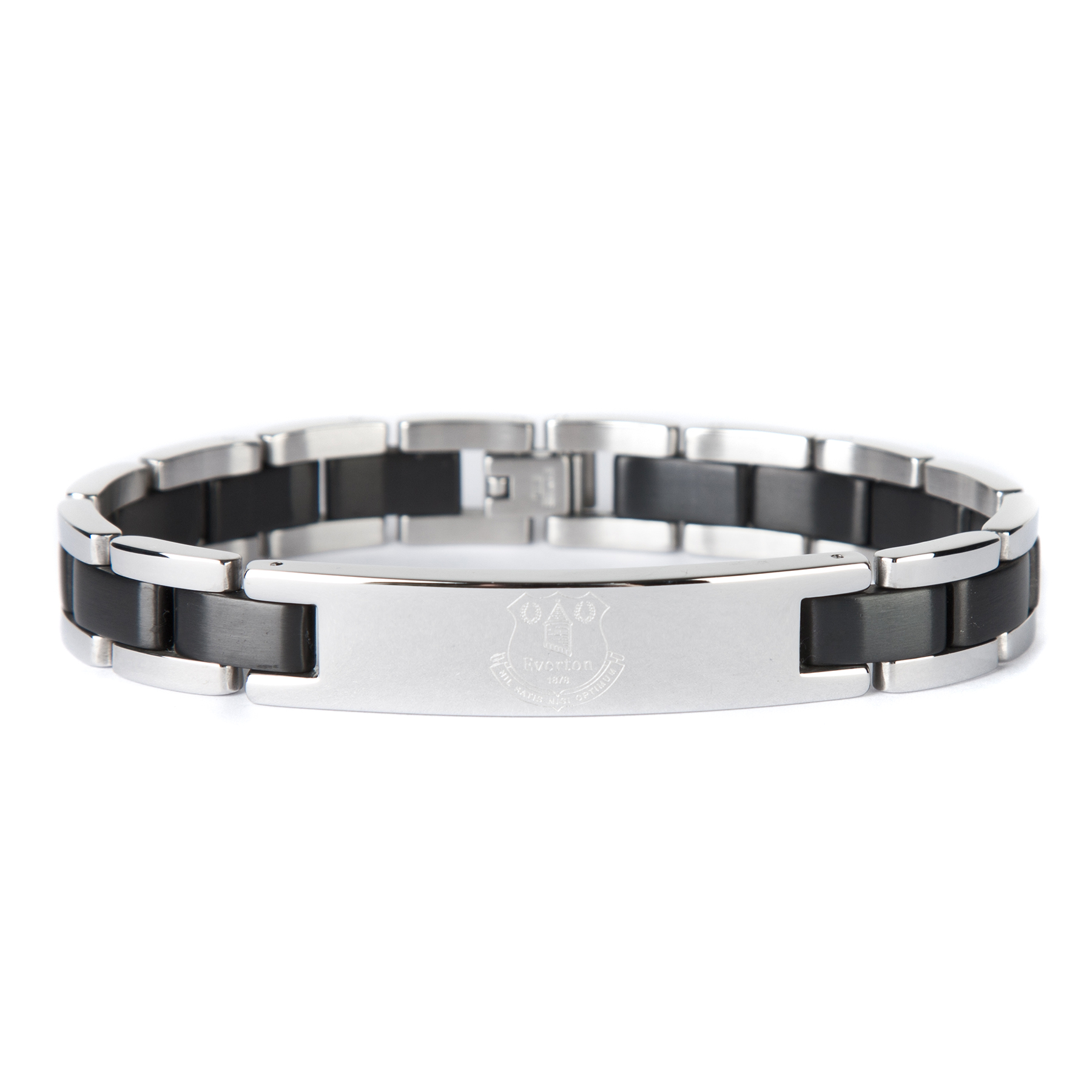 Everton Black Inlay Crest Bracelet