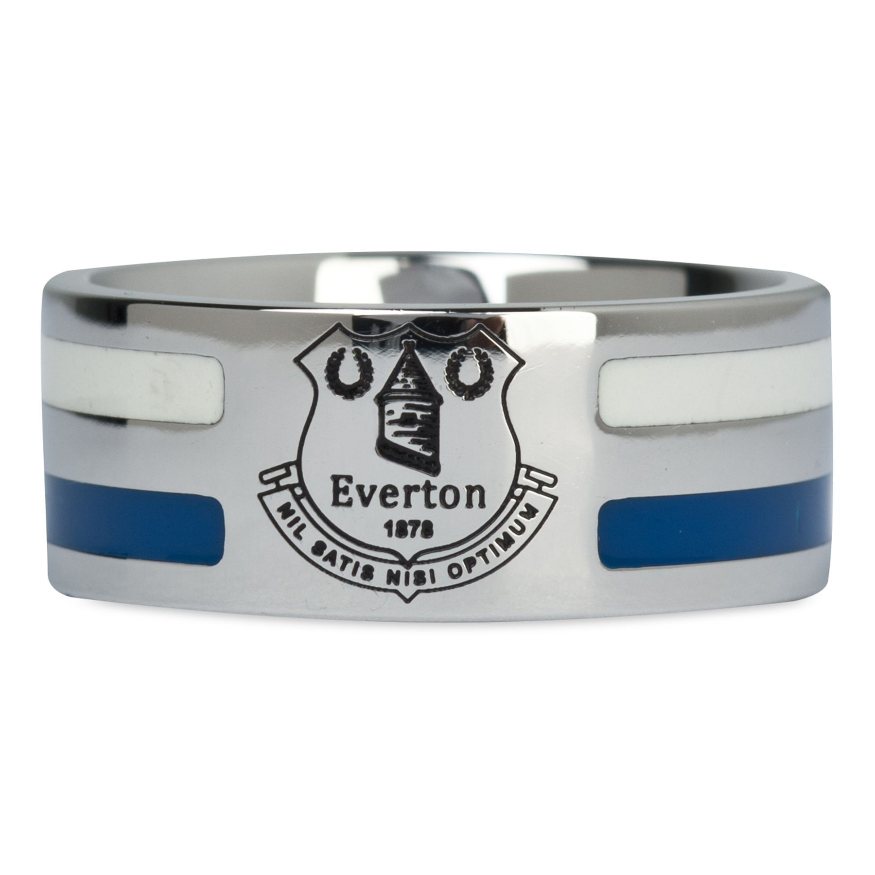Everton Colour Stripe Crest Ring