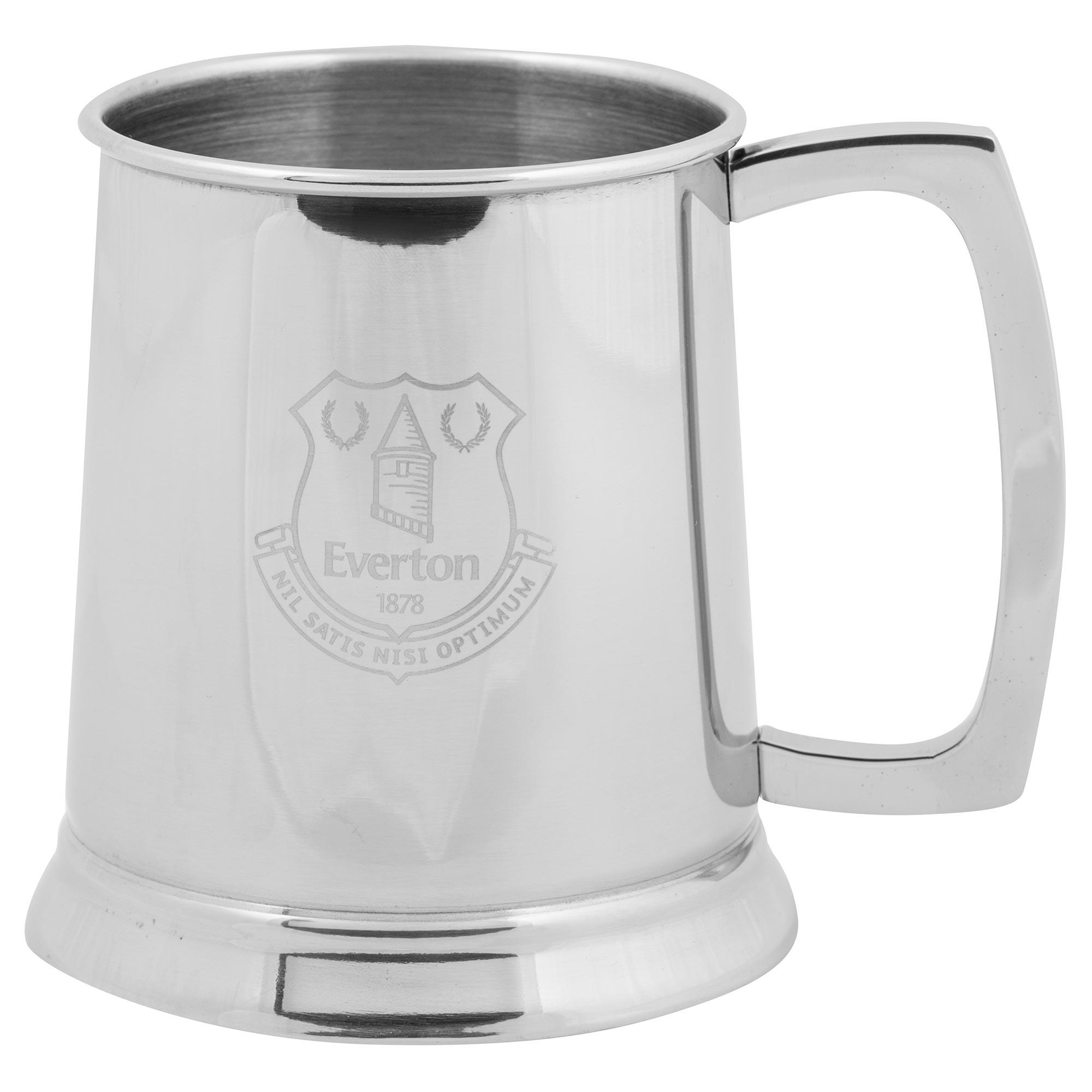 Everton Stainless Steel Glass Based Tankard