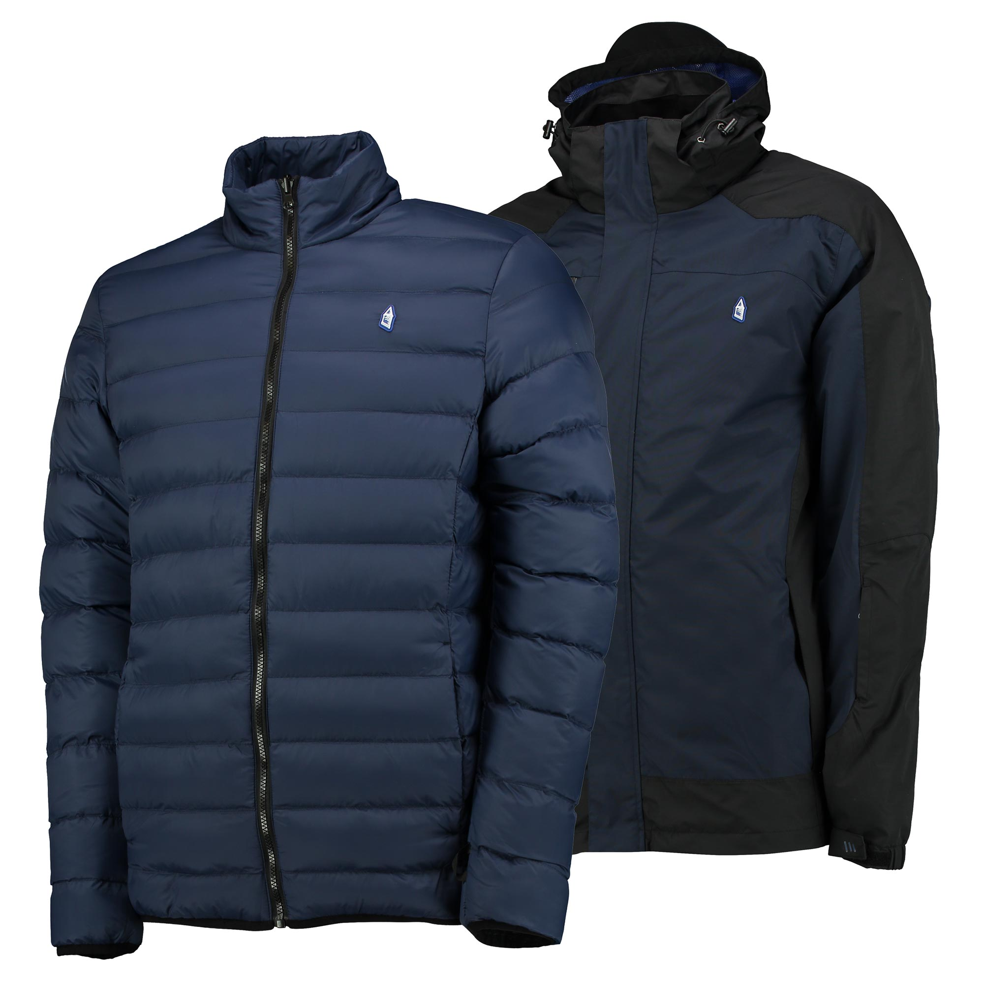 Everton Terrace 3in1 Jacket - Navy/Charcoal