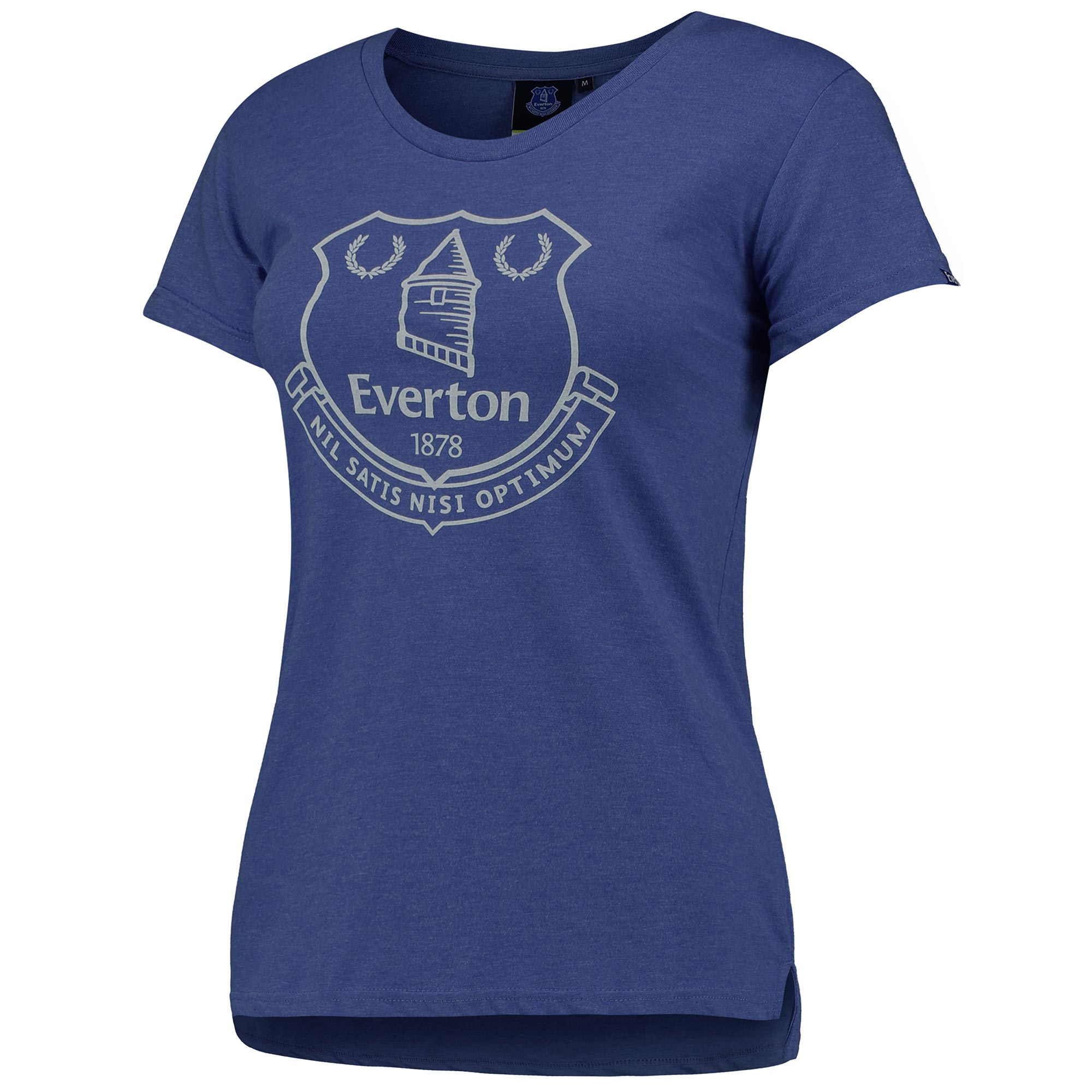 Everton Printed Crest T-Shirt - Royal - Womens