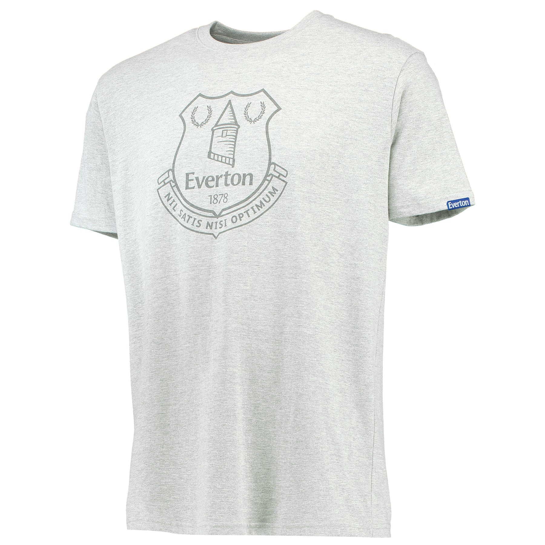 Everton Printed Crest T-Shirt - Grey Marl