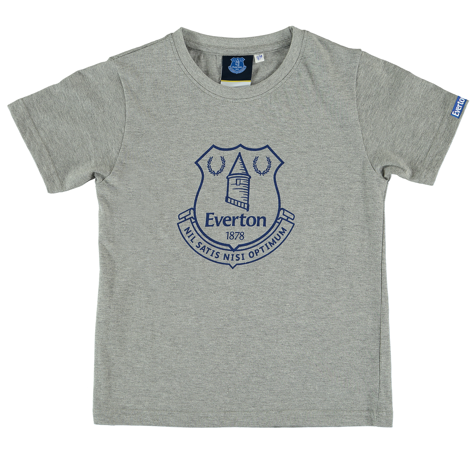 Everton Printed Crest T-Shirt - Grey Marl - Junior