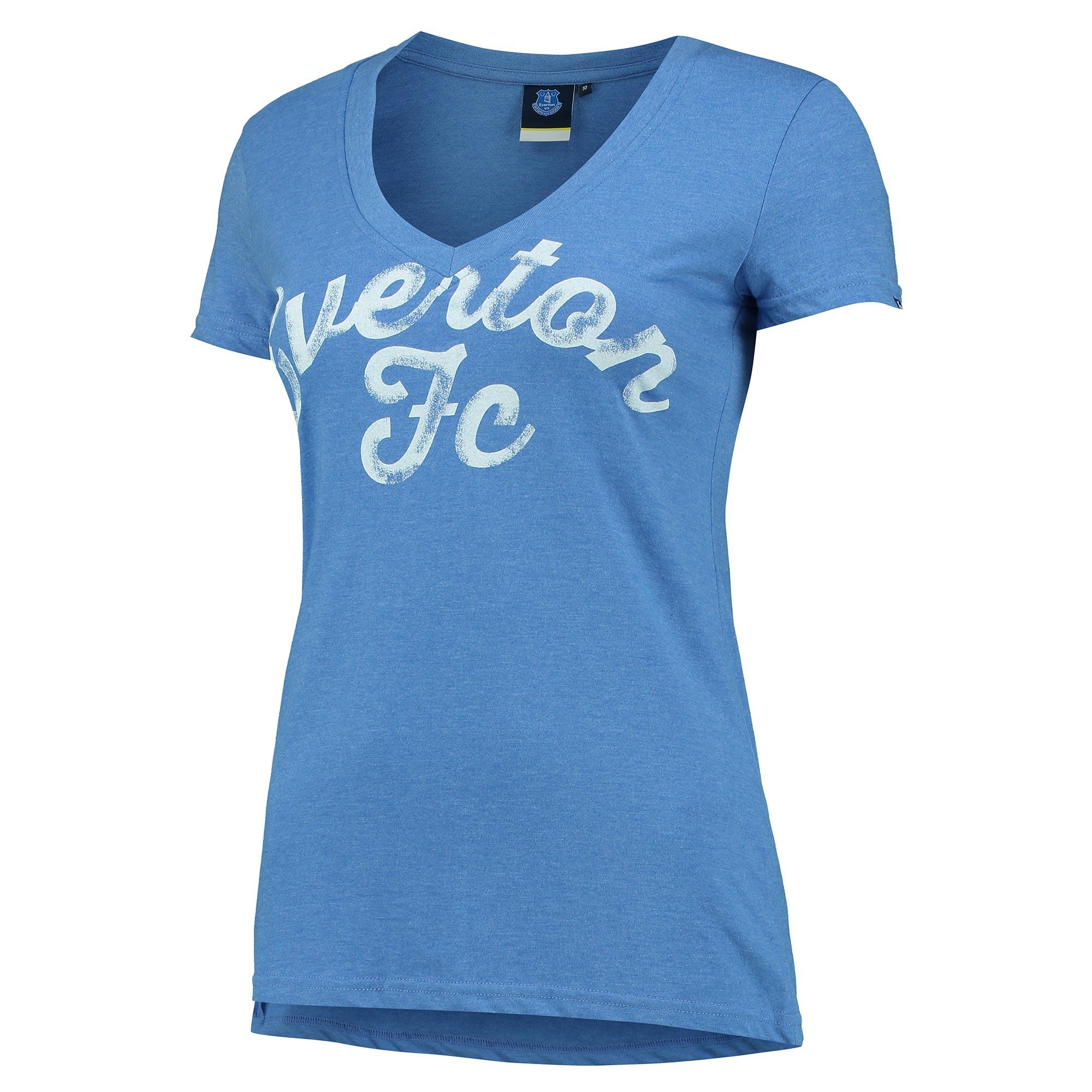 Everton V-Neck T-Shirt - Royal - Womens