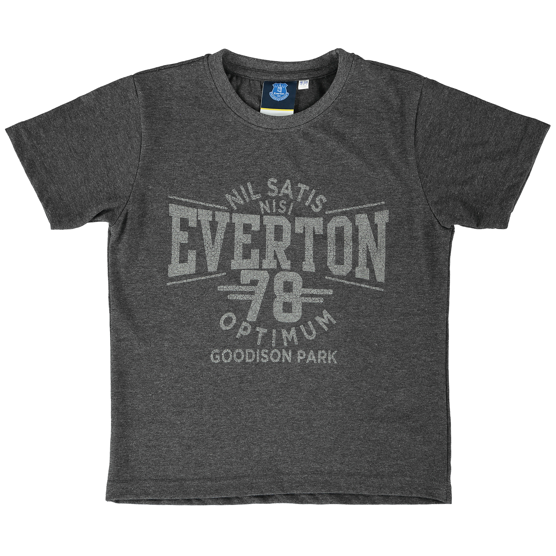 Everton Nil Satis T-Shirt - Charcoal Marl - Junior