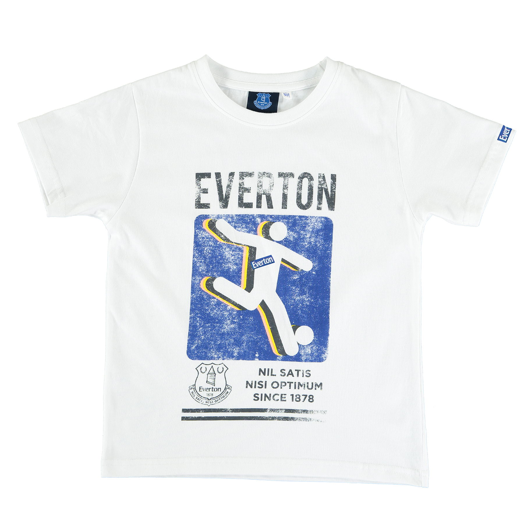 Everton Kick T-Shirt - White - Junior