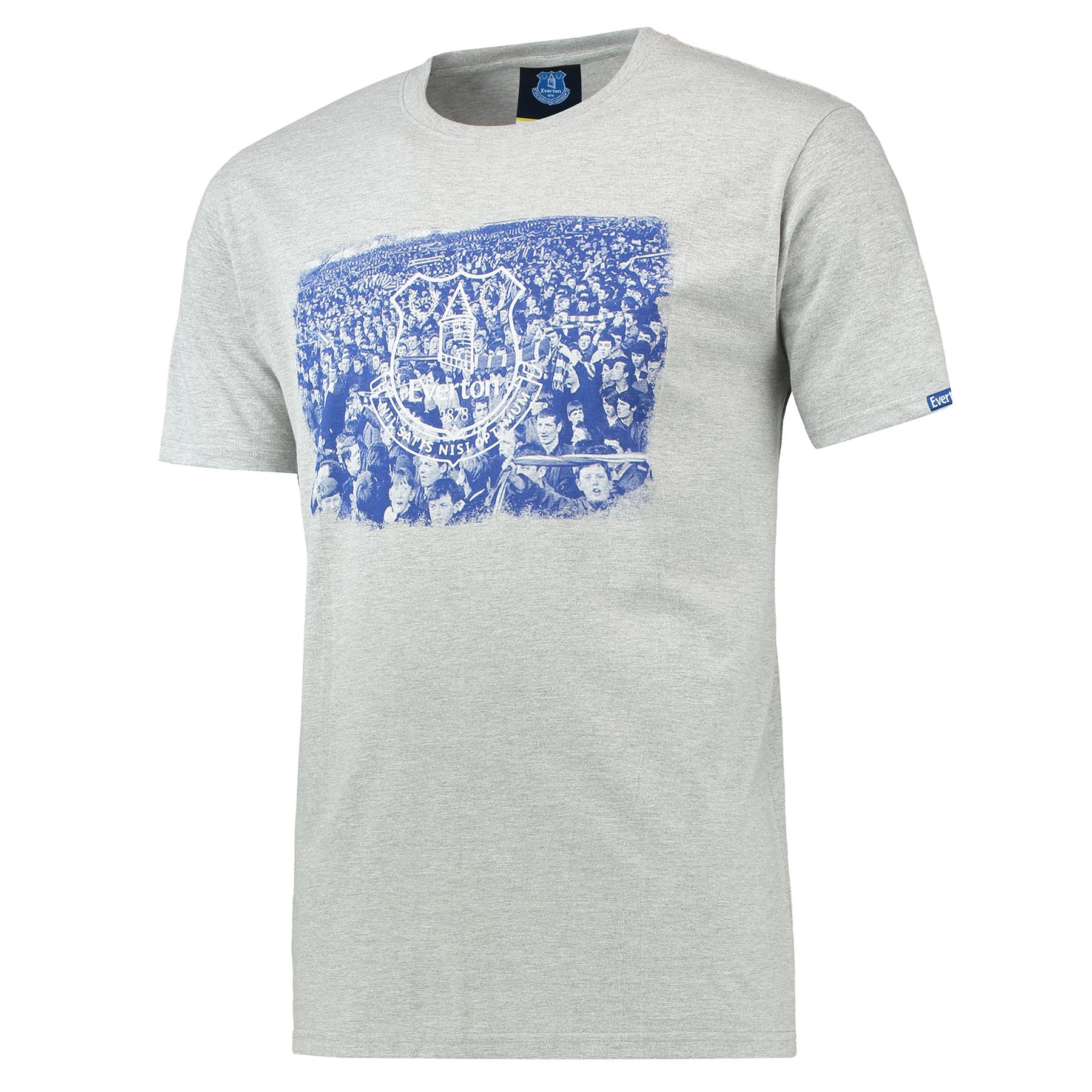 Everton Royal Crowd T-Shirt - Grey Marl