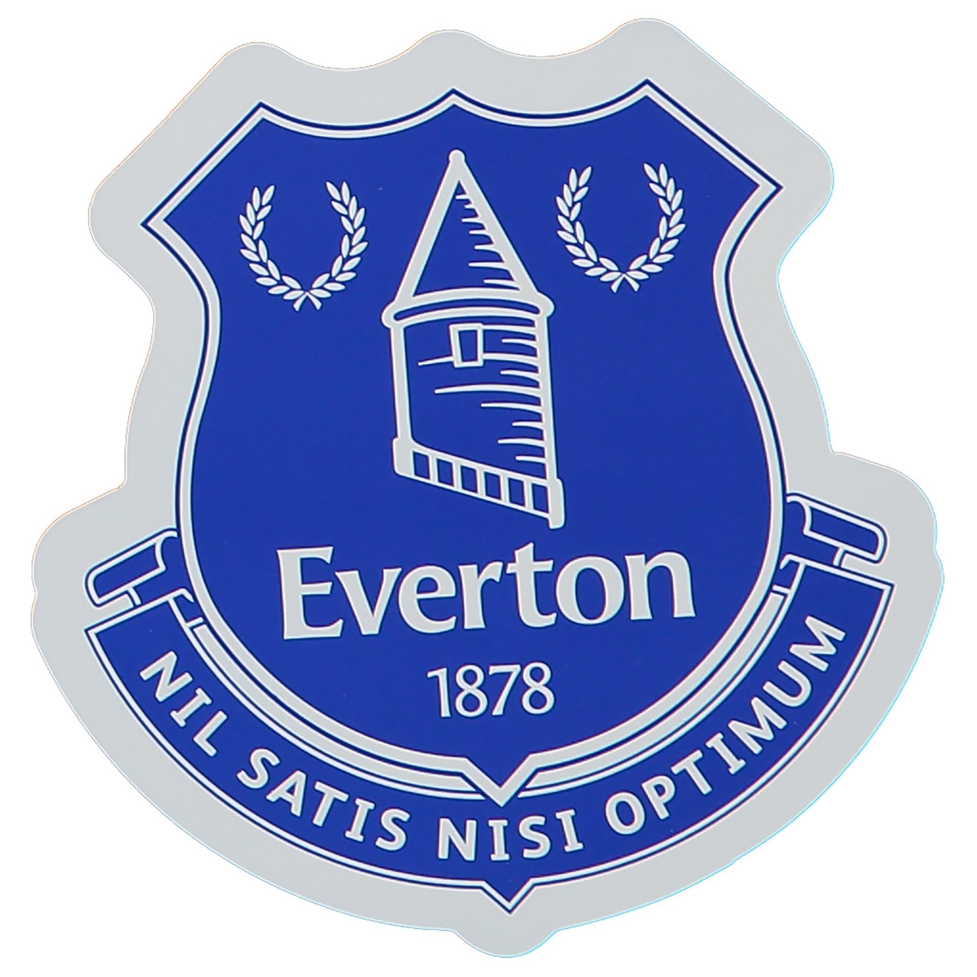 Everton Self Adhesive Car Sticker - 95 x 96mm