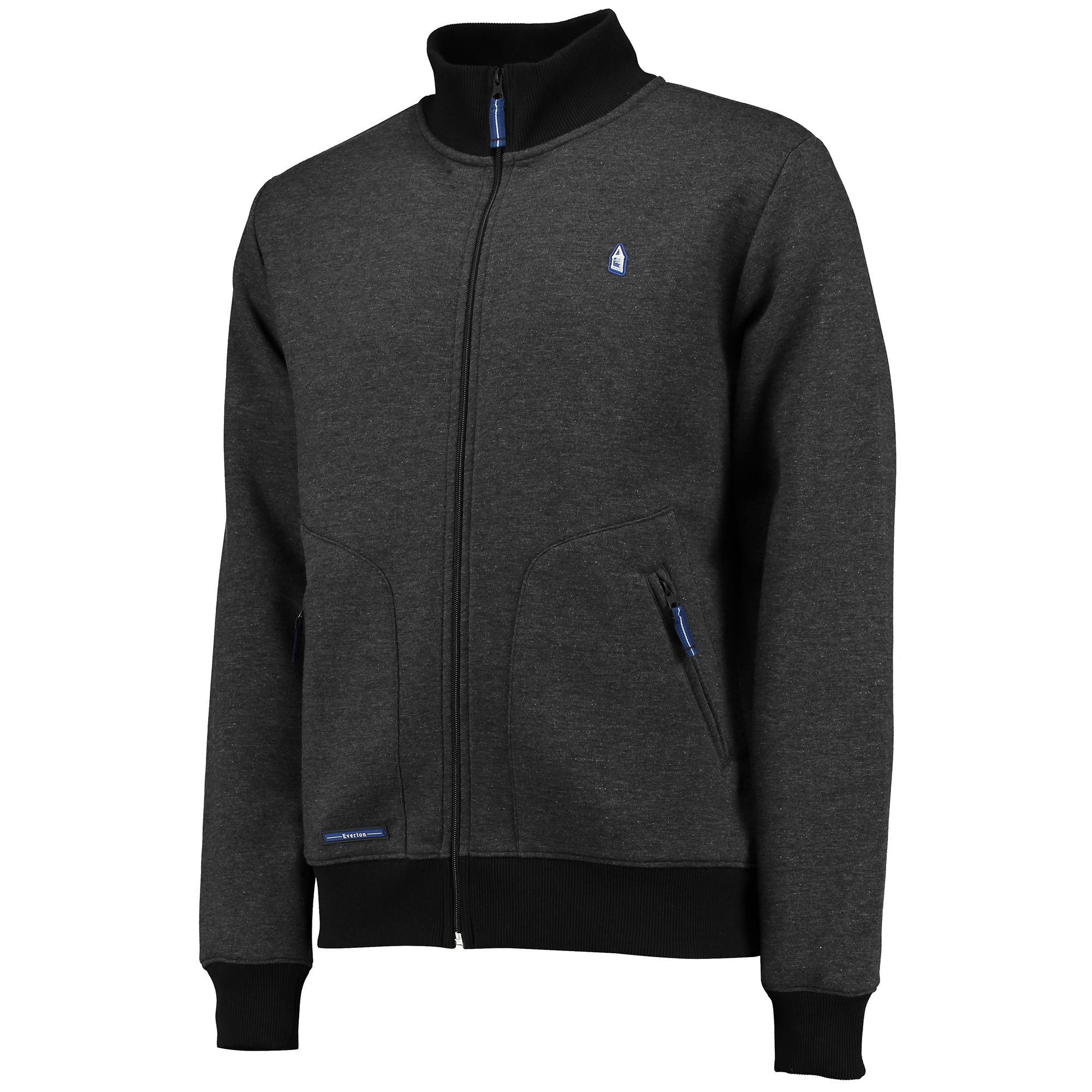 Everton Terrace Full Zip Sweat - Charcoal Marl