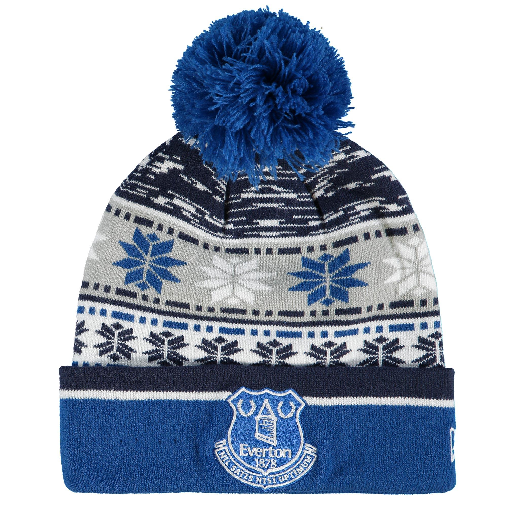 Everton New Era Pattern Cuff Beanie - Blue/Grey
