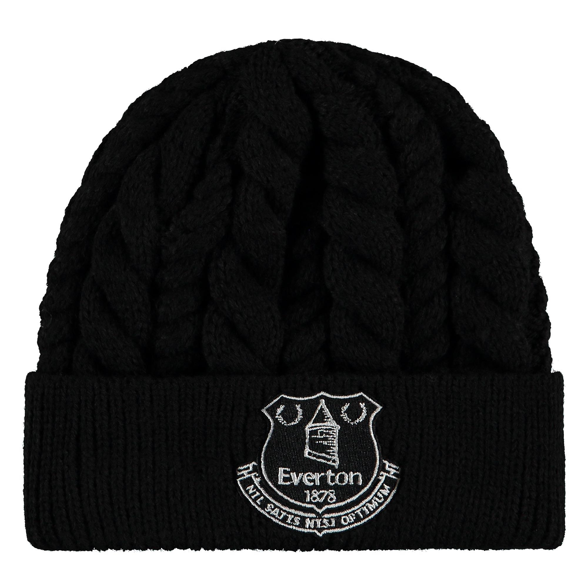 Everton New Era Fishermans Beanie - Black