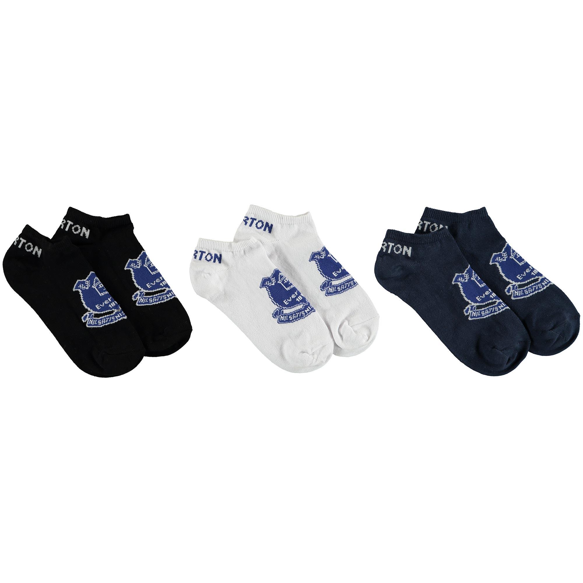 Image of Everton 3 Pack Liner Socks - Junior