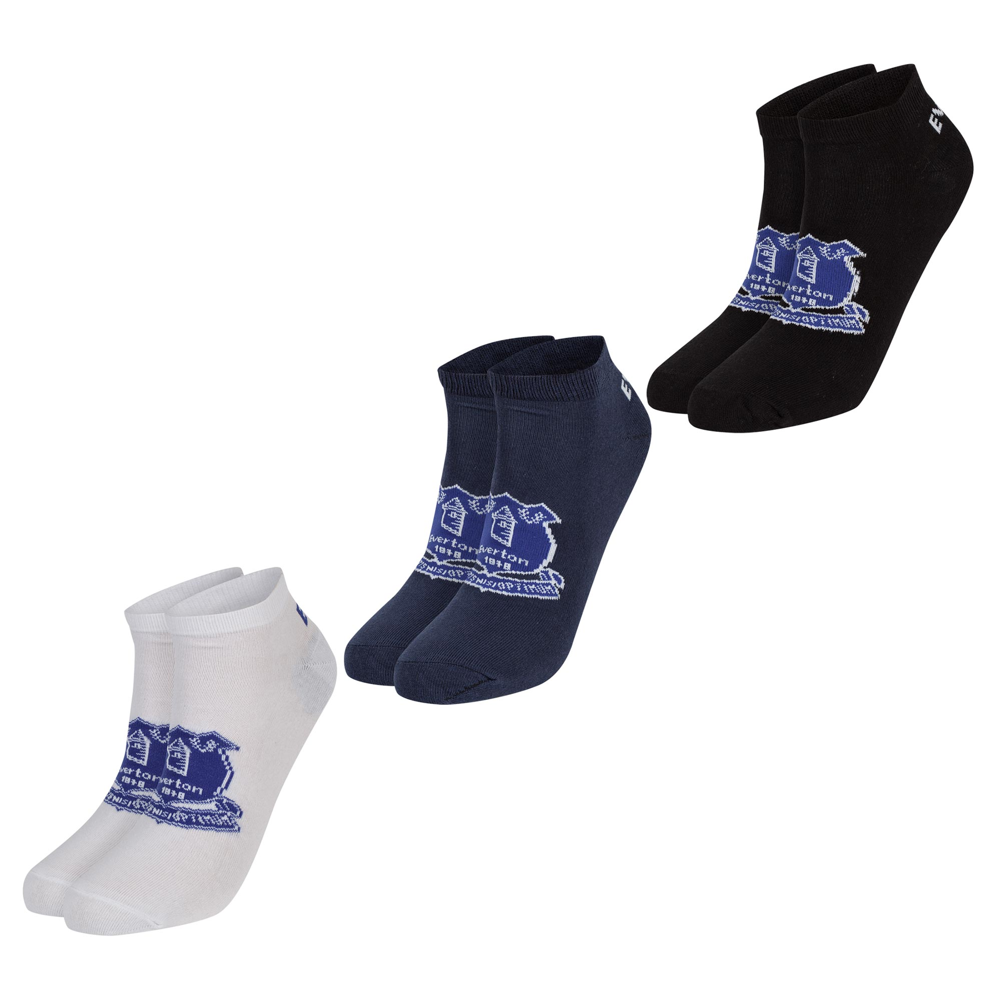 Everton 3 Pack Liner Socks