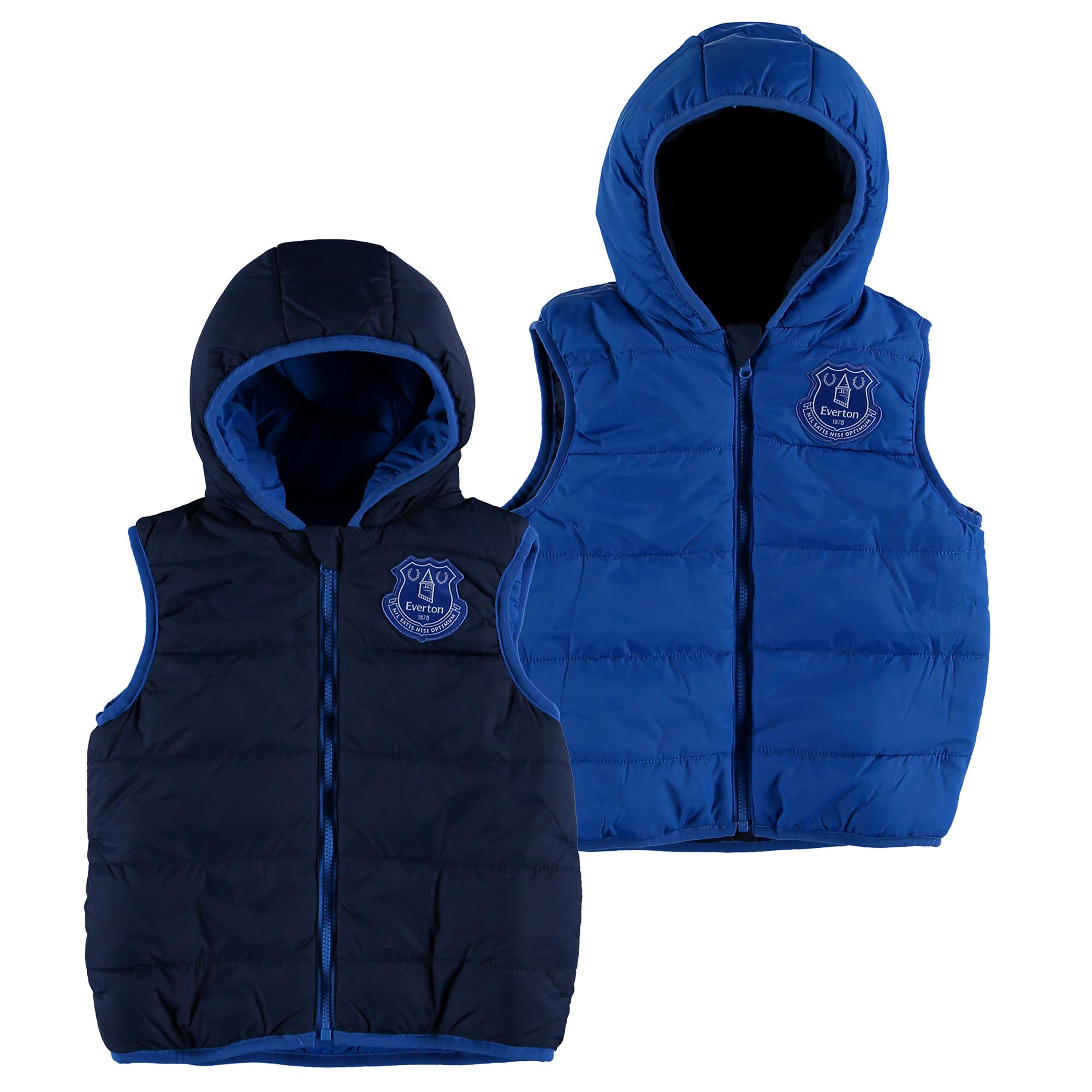 Everton Reversible Gilet - Navy/Royal - Junior