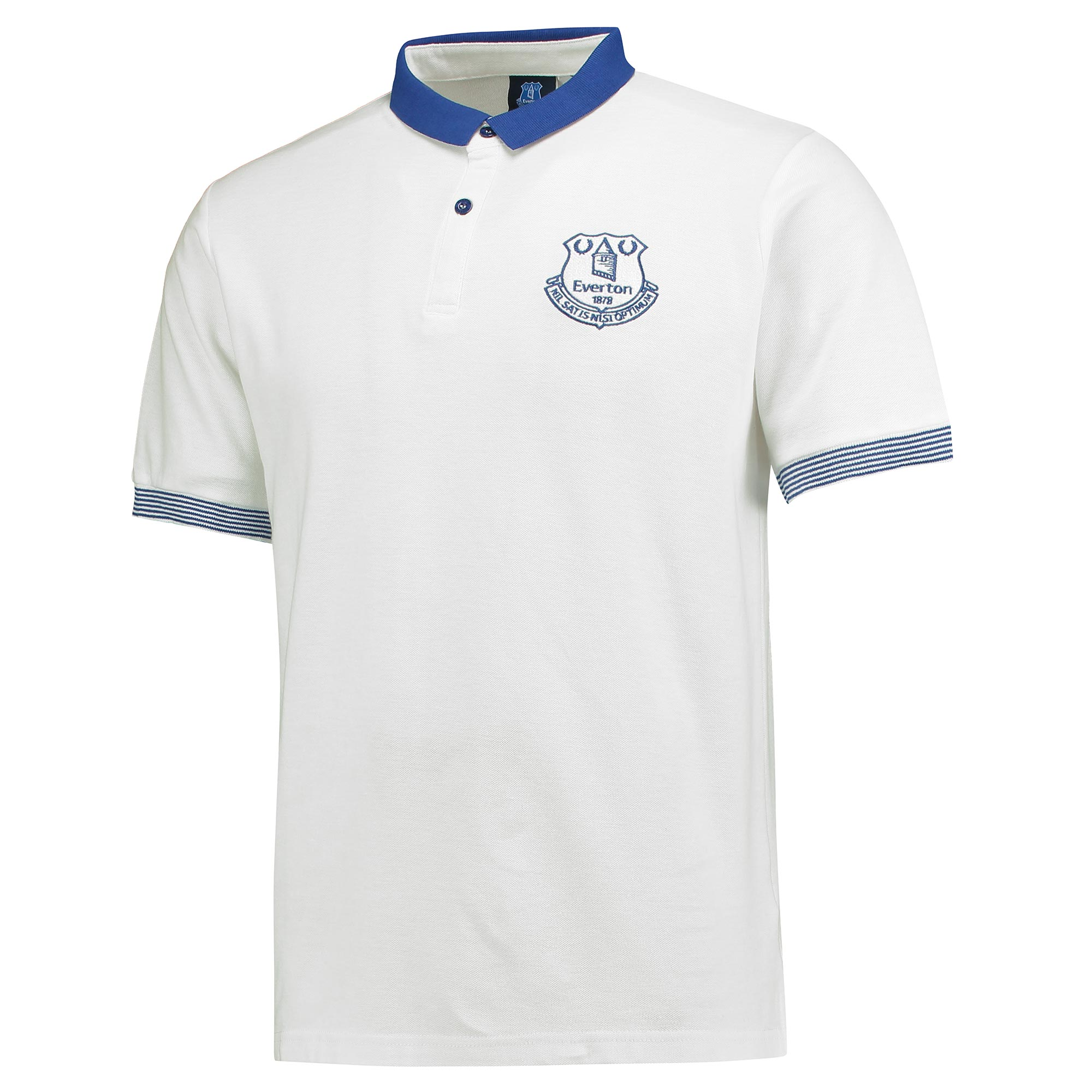 Everton Slim Fit Mini Collar Polo - White