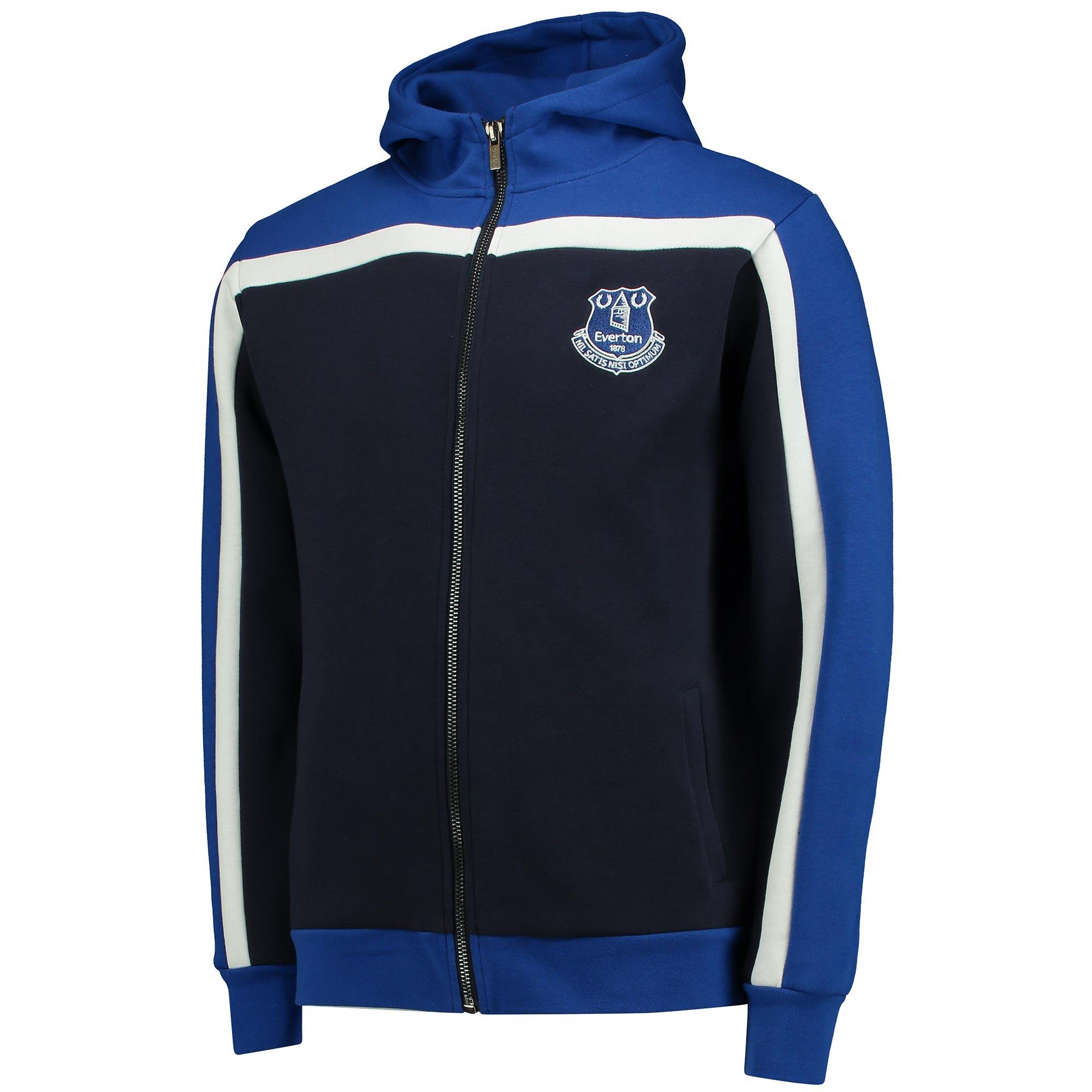 Everton Hoodie Full Zip - Navy