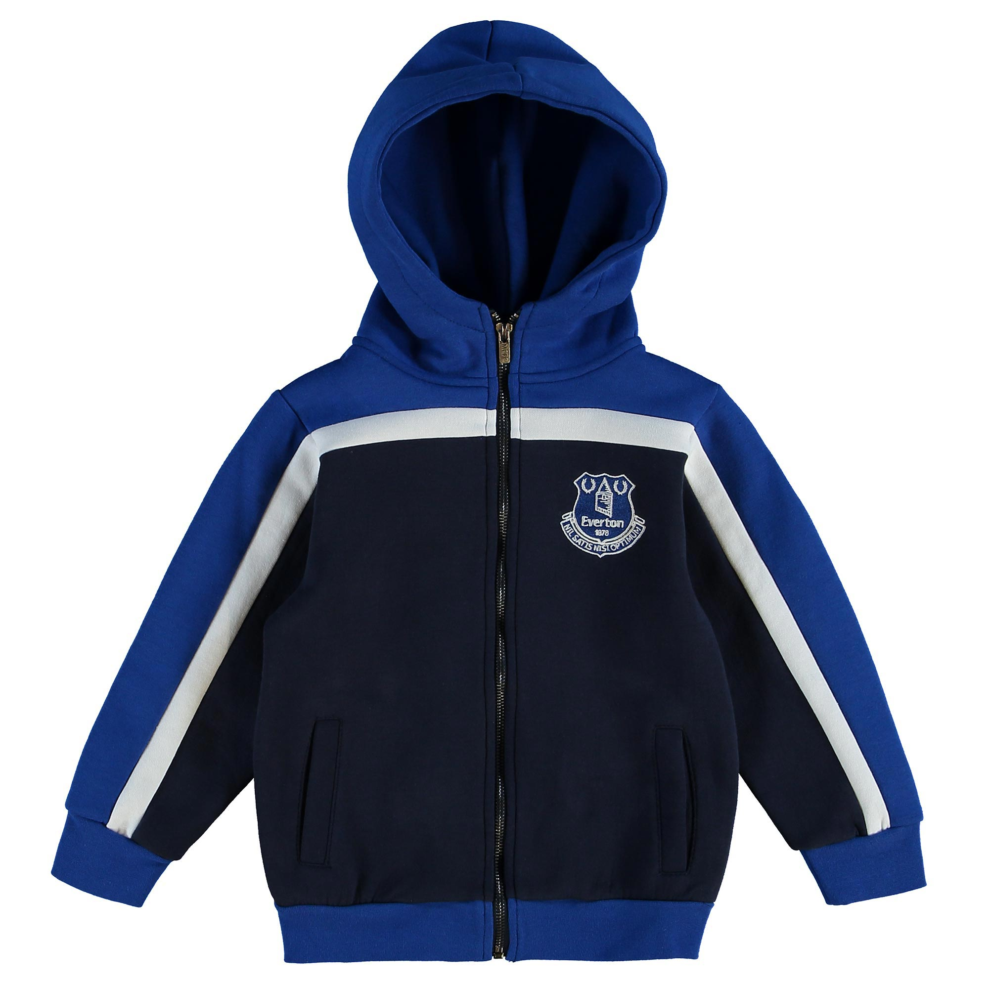 Everton Hoodie Full Zip - Navy - Junior