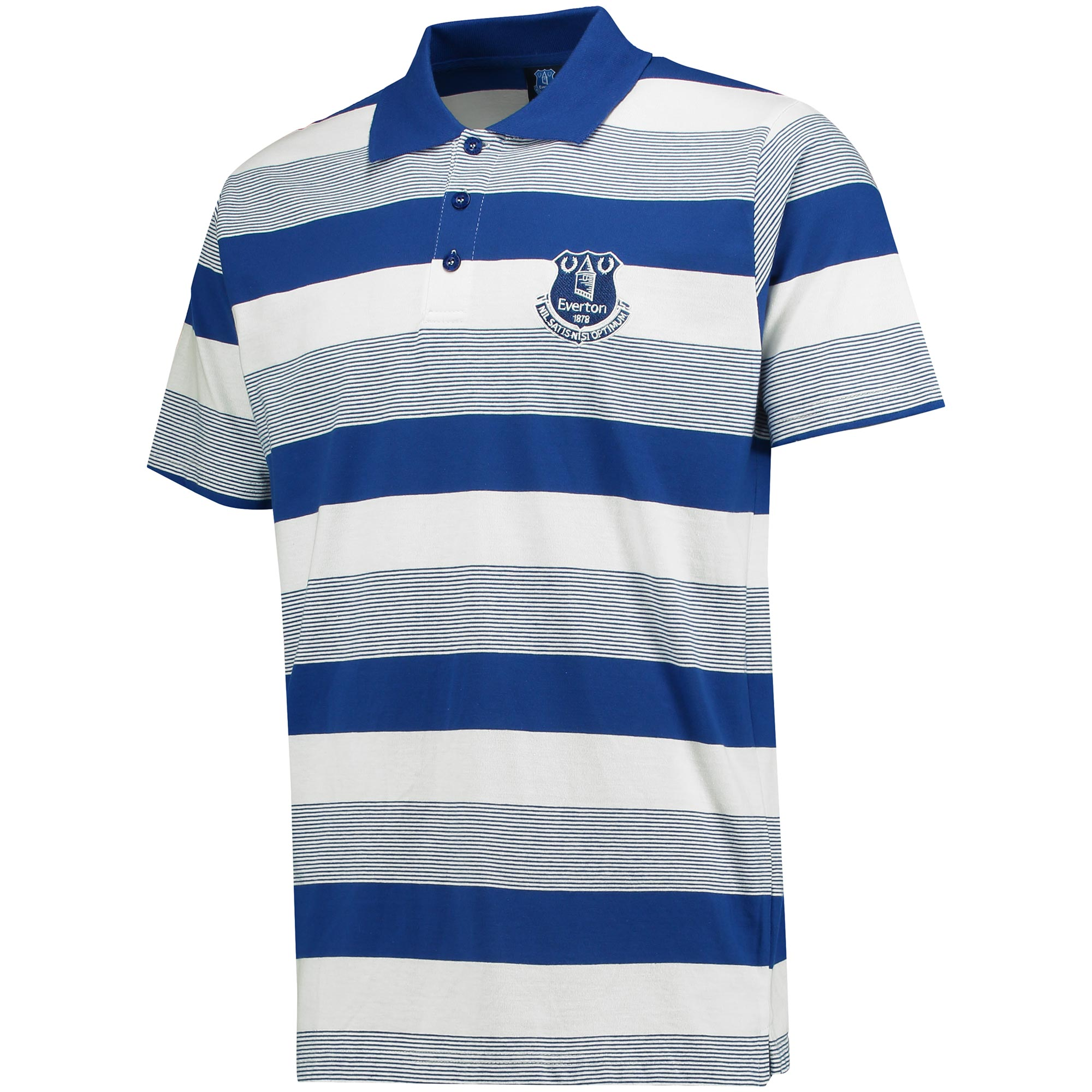 Everton Stripe Polo - Royal/White