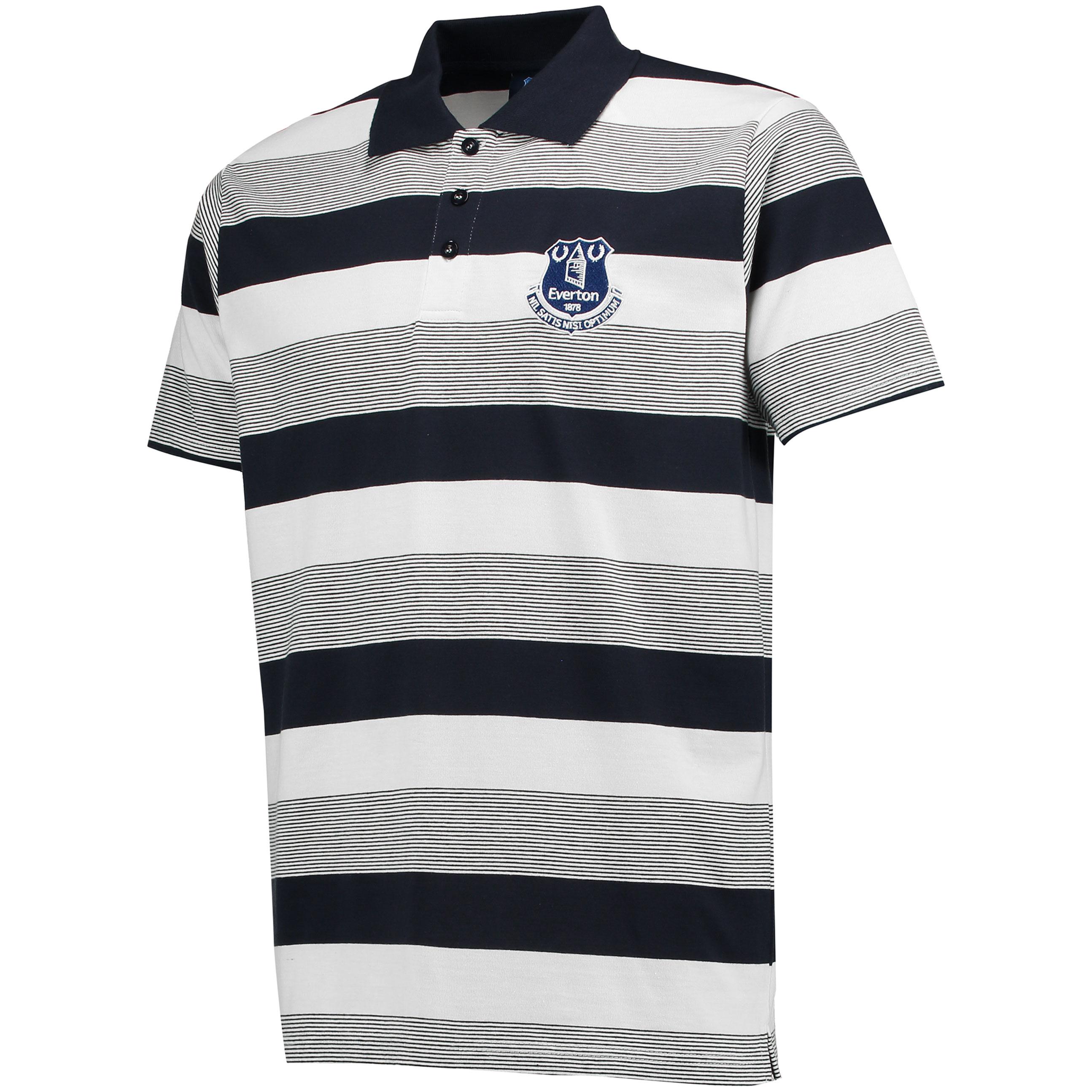 Everton Stripe Polo - Navy/White