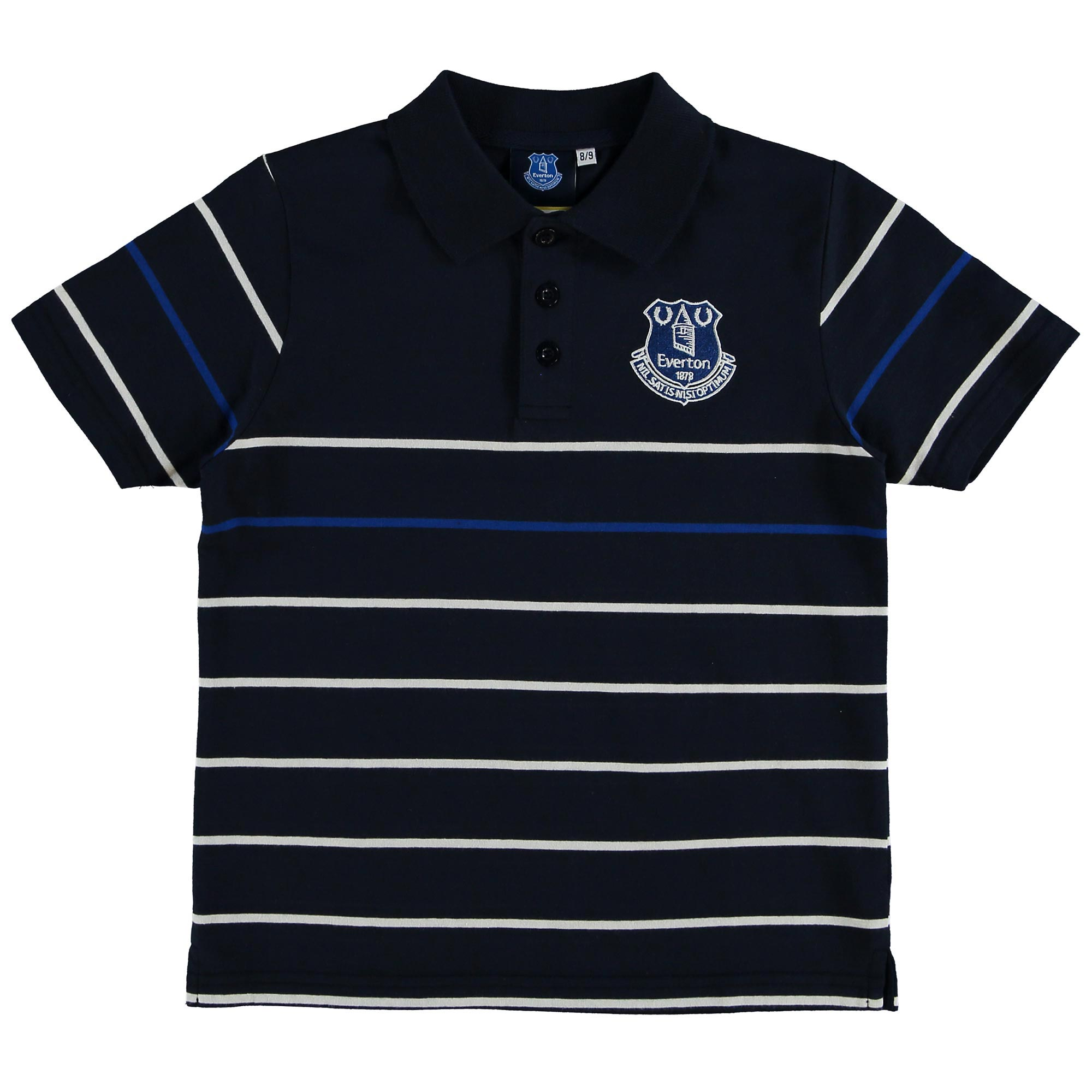 Everton Stripe Polo - Navy - Junior