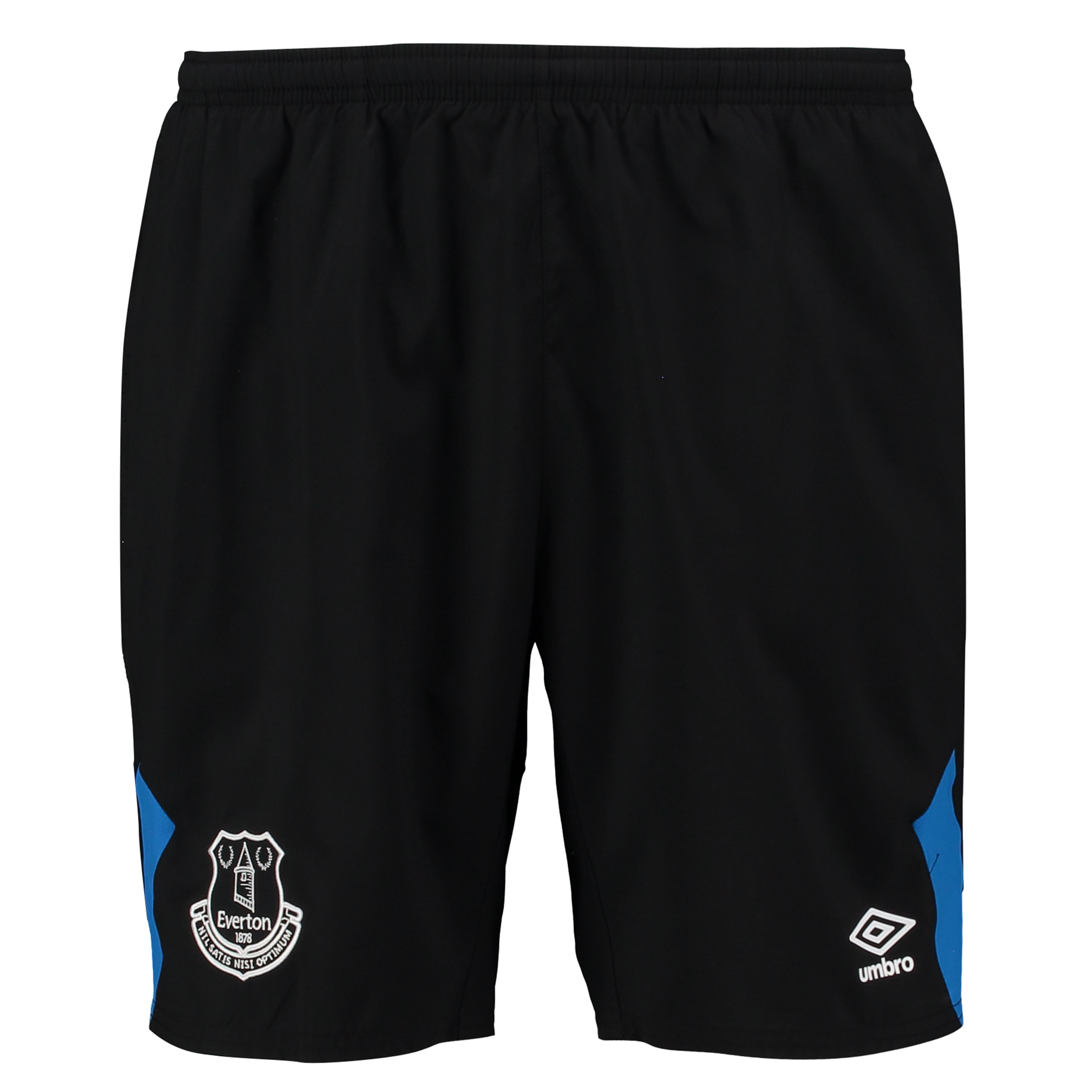 Everton Training Woven Short - Black/Electric Blue