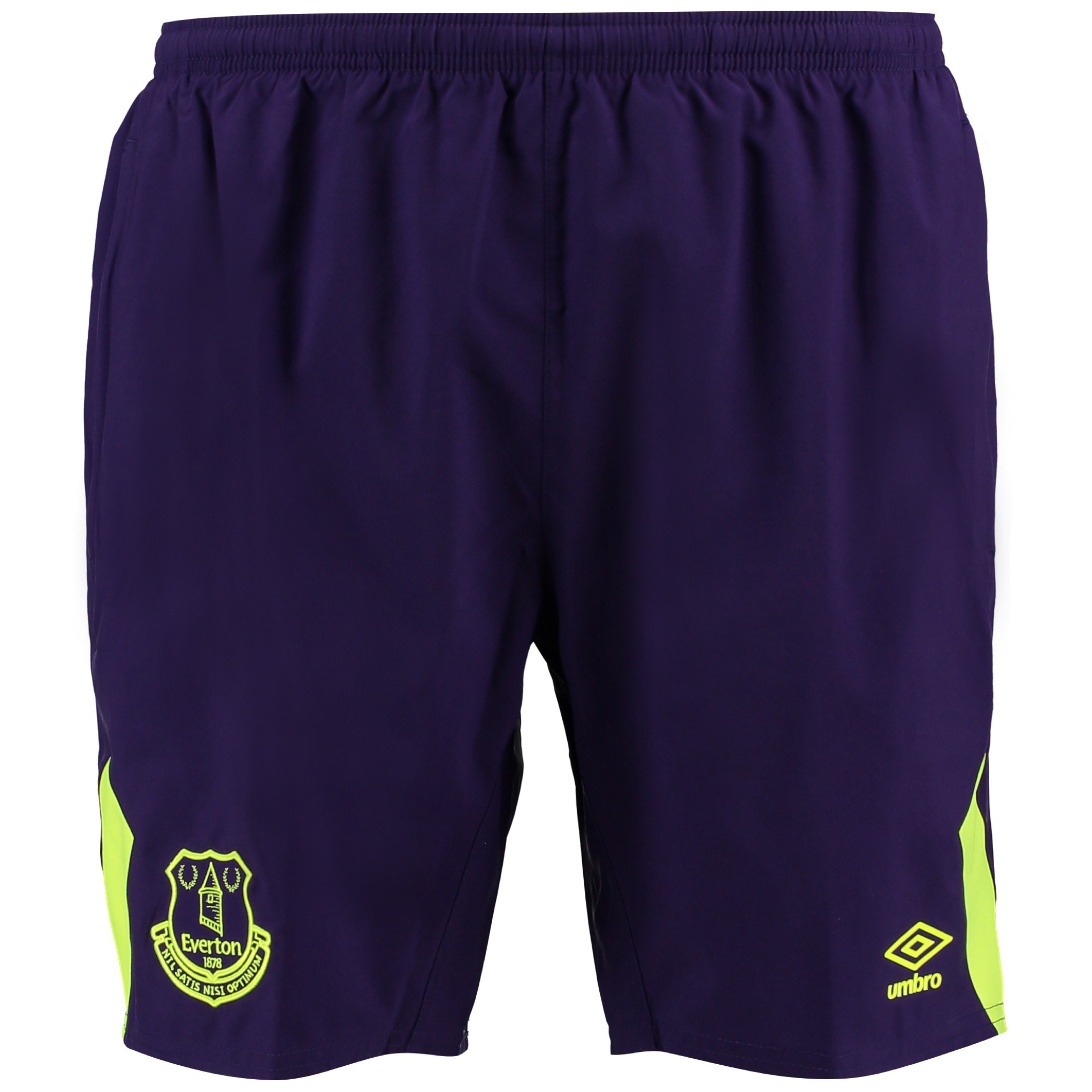Everton Training Woven Short - Parachute Purple/Safety Yellow