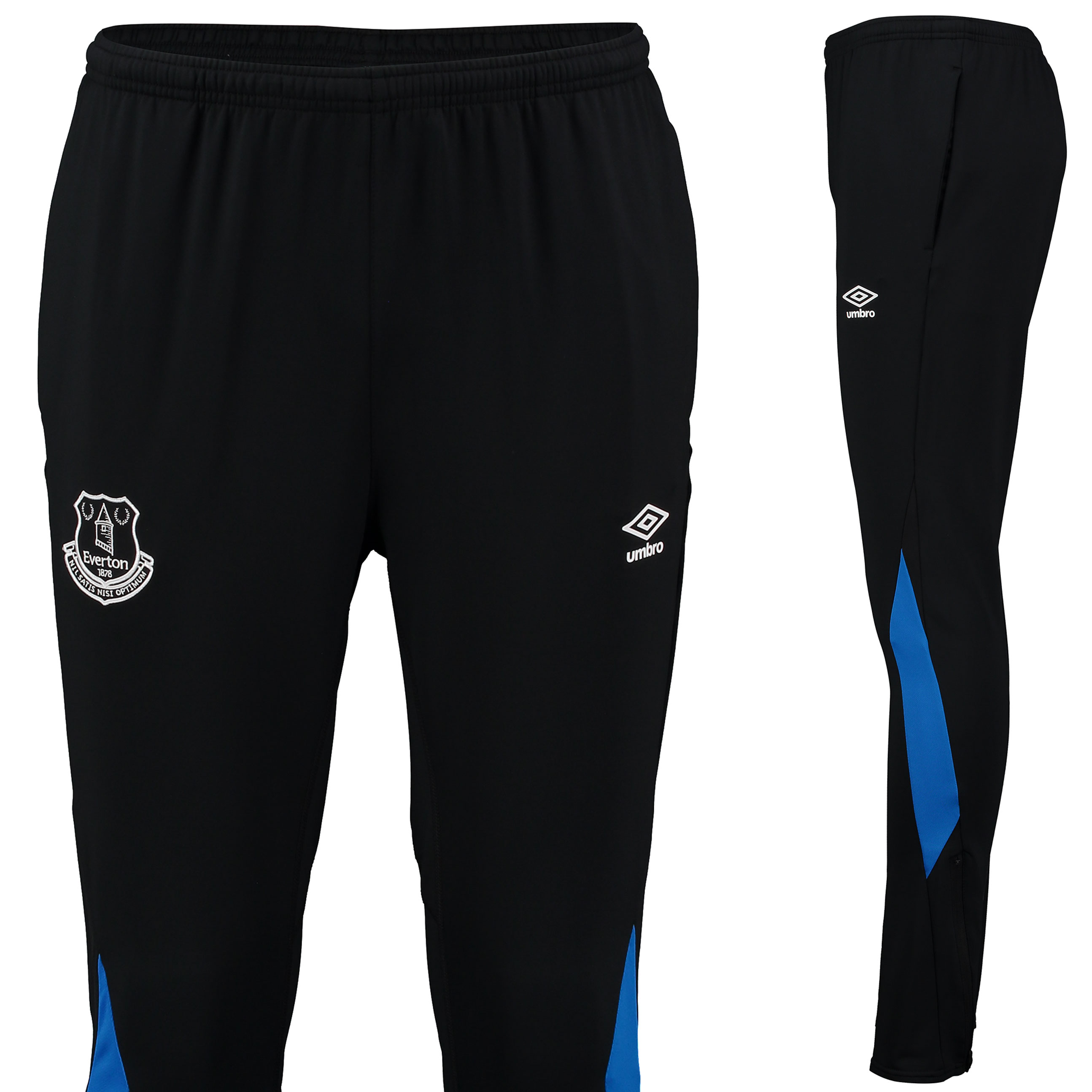 Everton Training Tapered Pant - Black/Sodalite Blue