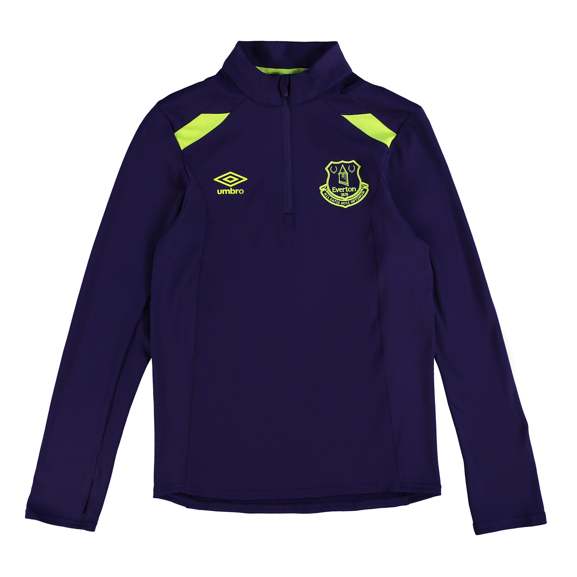 Everton Training Half Zip Top - Junior - Parachute Purple/Safety Yello