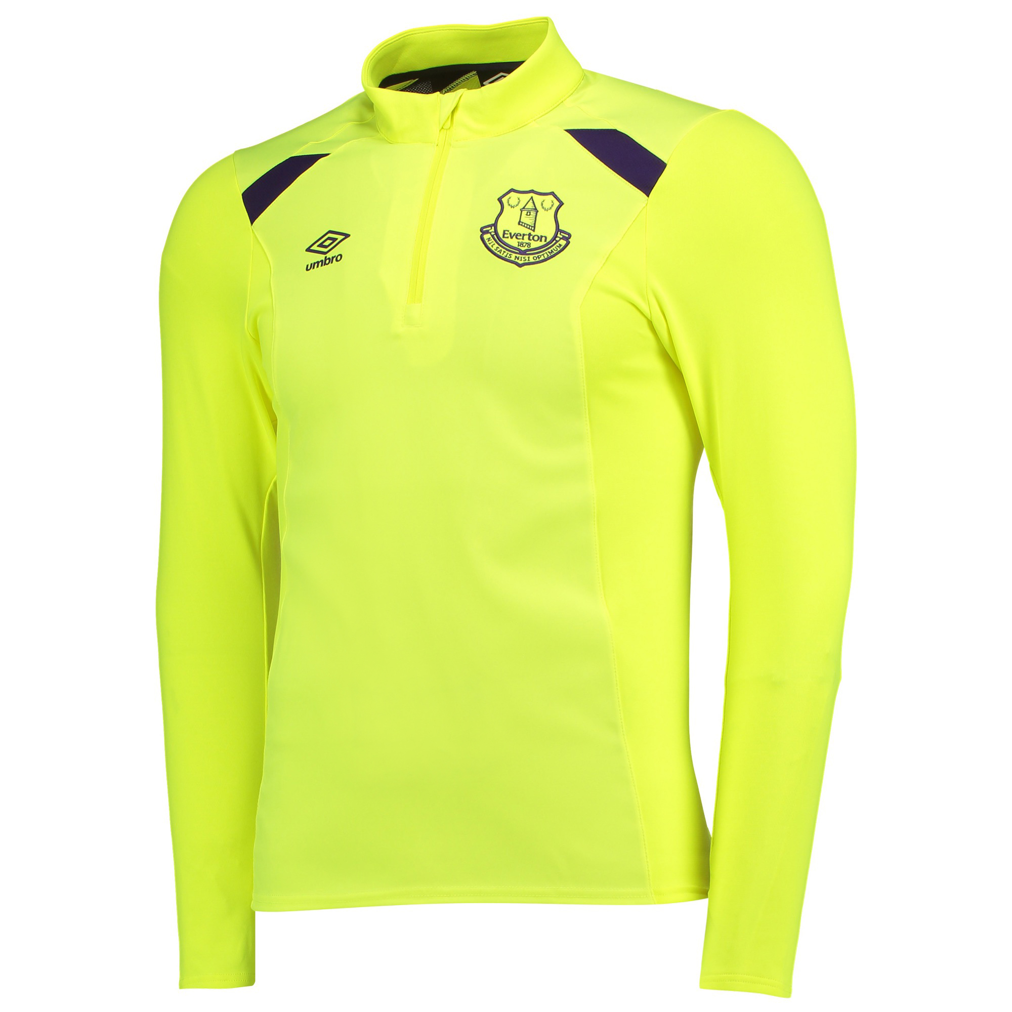 Everton Training Half Zip Top - Junior - Safety Yellow/Parachute Purpl