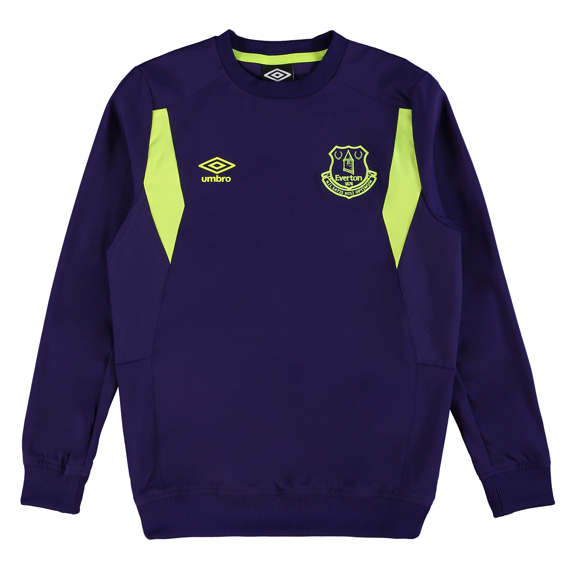 Everton Training Drill Top - Junior - Parachute Purple/Safety Yellow
