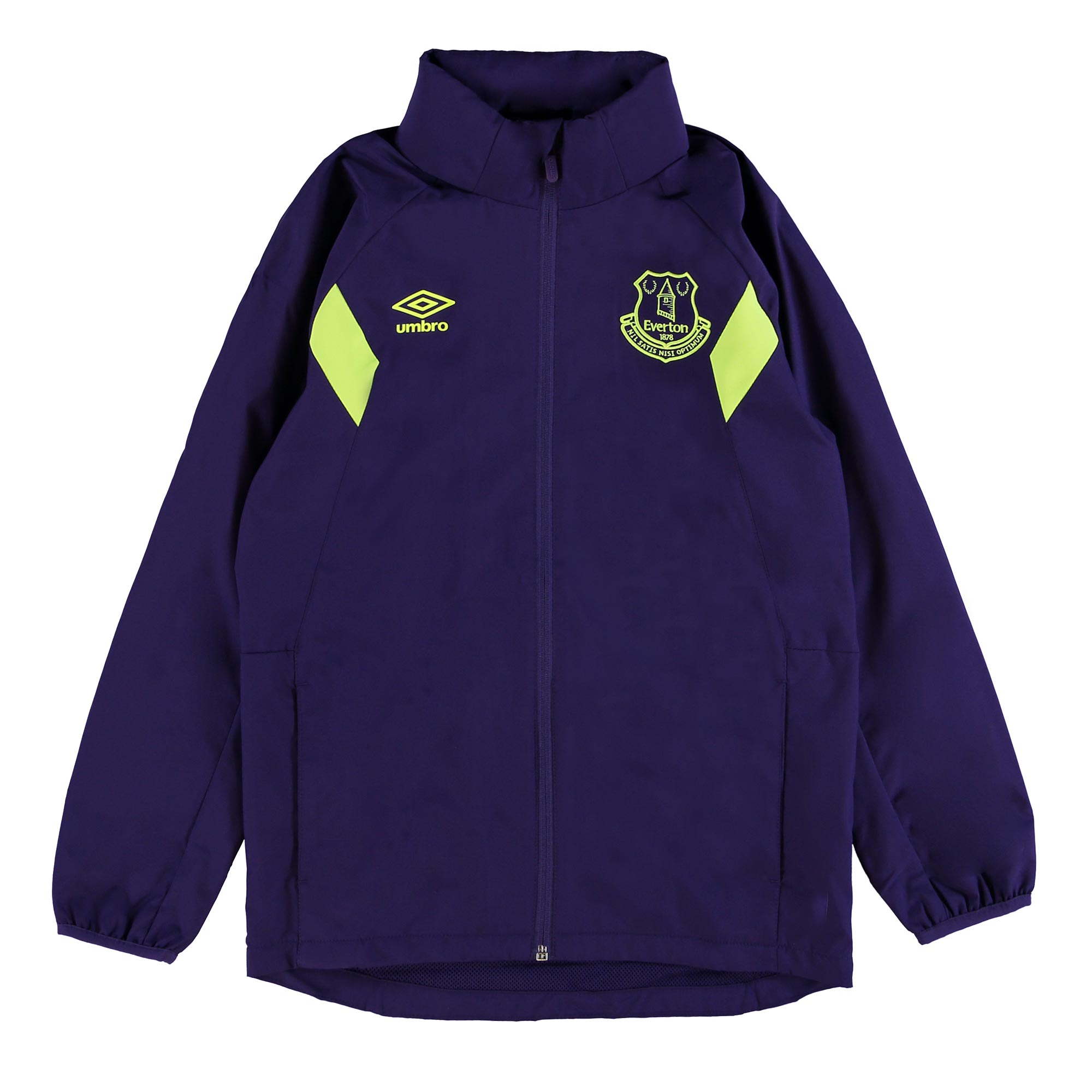 Everton Training Shower Jacket - Junior - Parachute Purple/Safety Yell