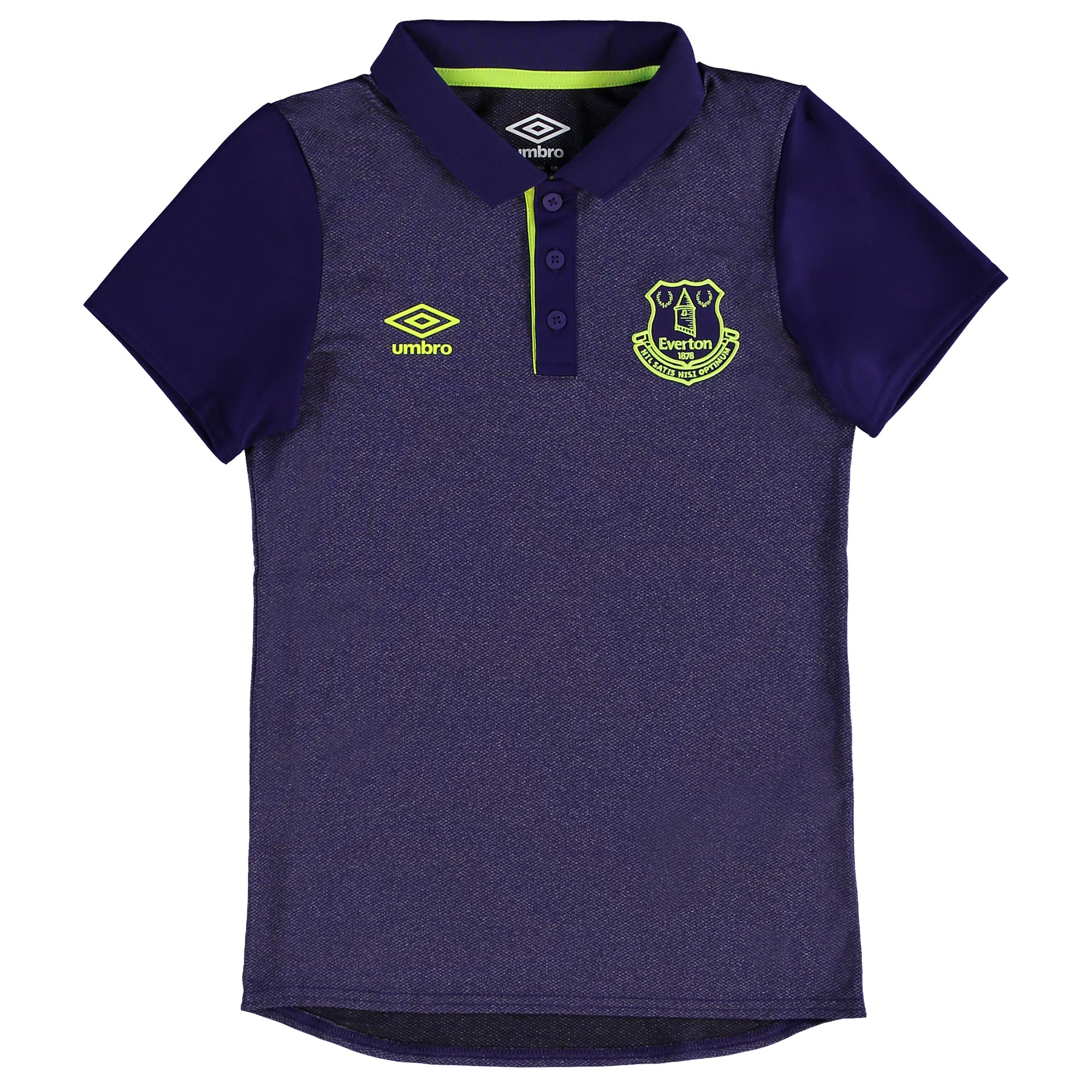 Everton Training Poly Polo - Junior - Parachute Purple/Safety Yellow