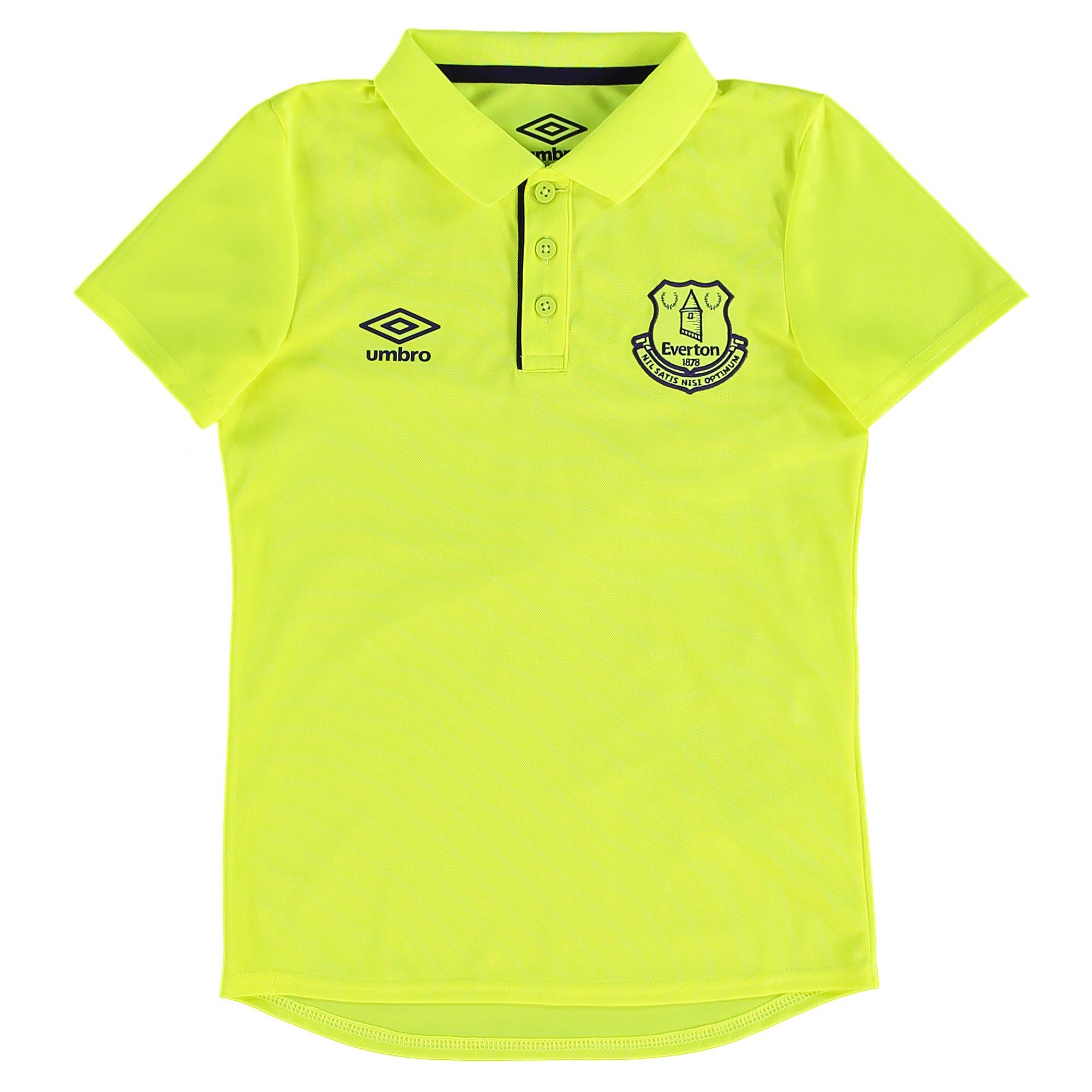 Everton Training Poly Polo - Junior - Safety Yellow/Parachute Purple