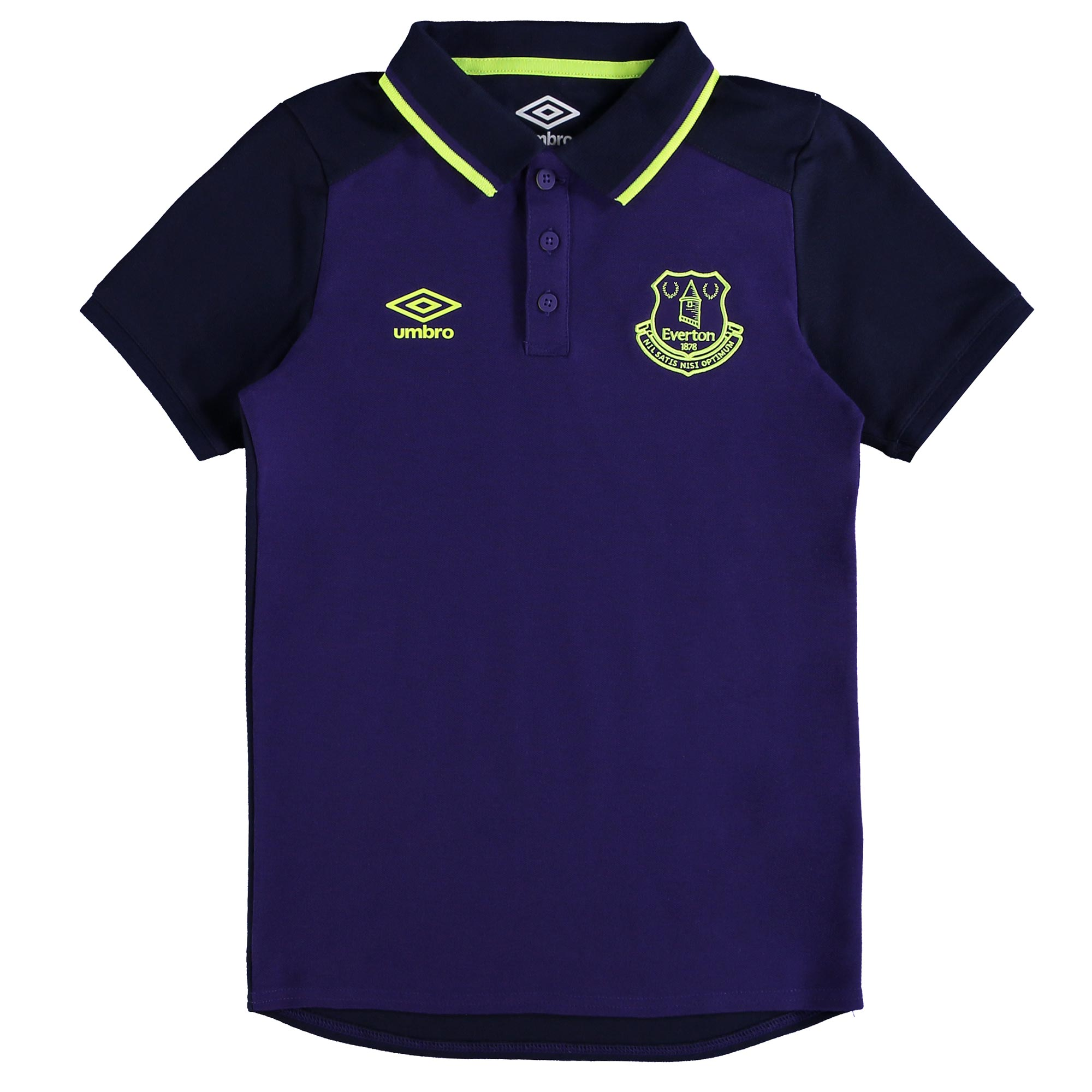 Everton Training CVC Polo - Junior - Parachute Purple/Evening Blue