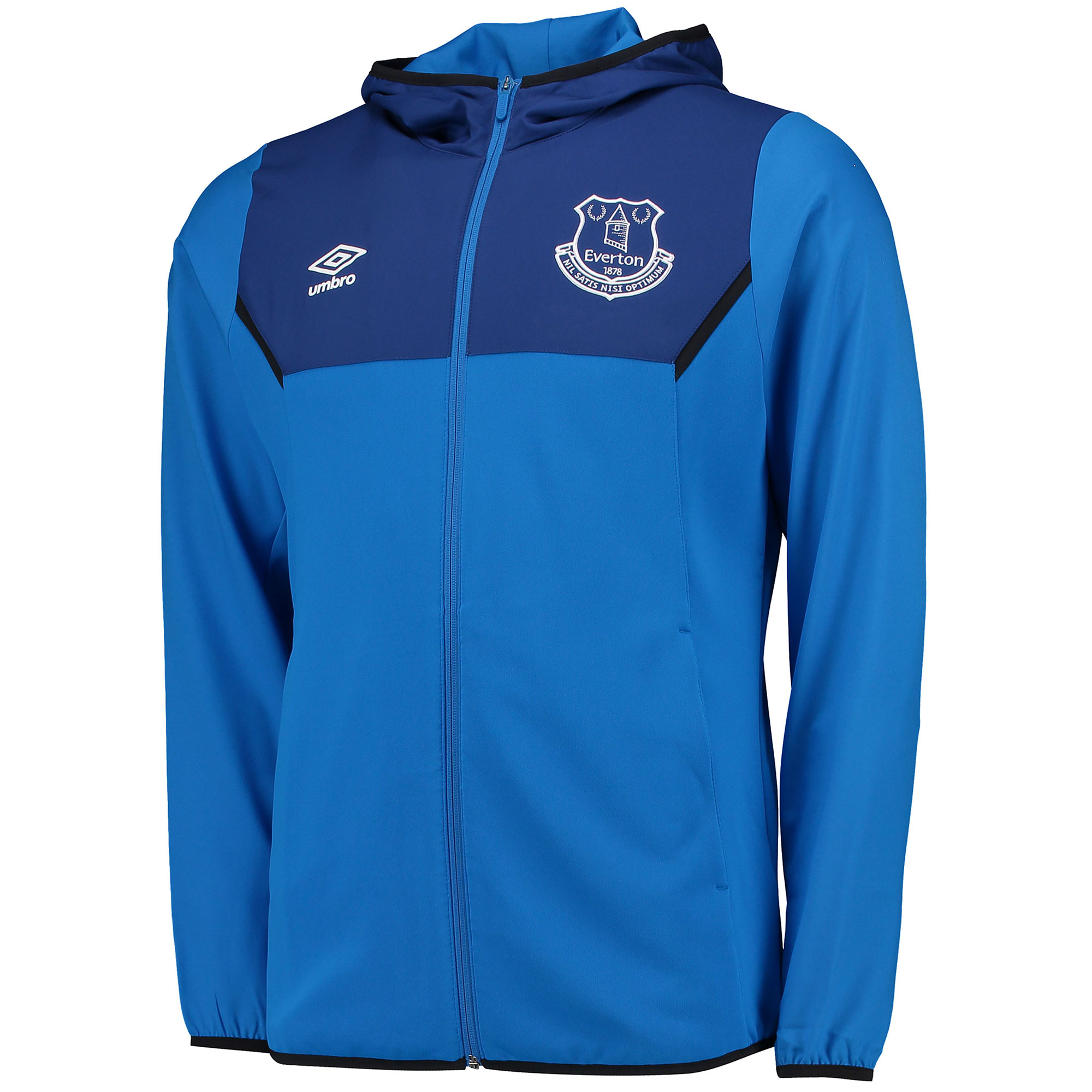 Everton Training Hooded Jacket - Junior - Electric Blue/Sodalite Blue