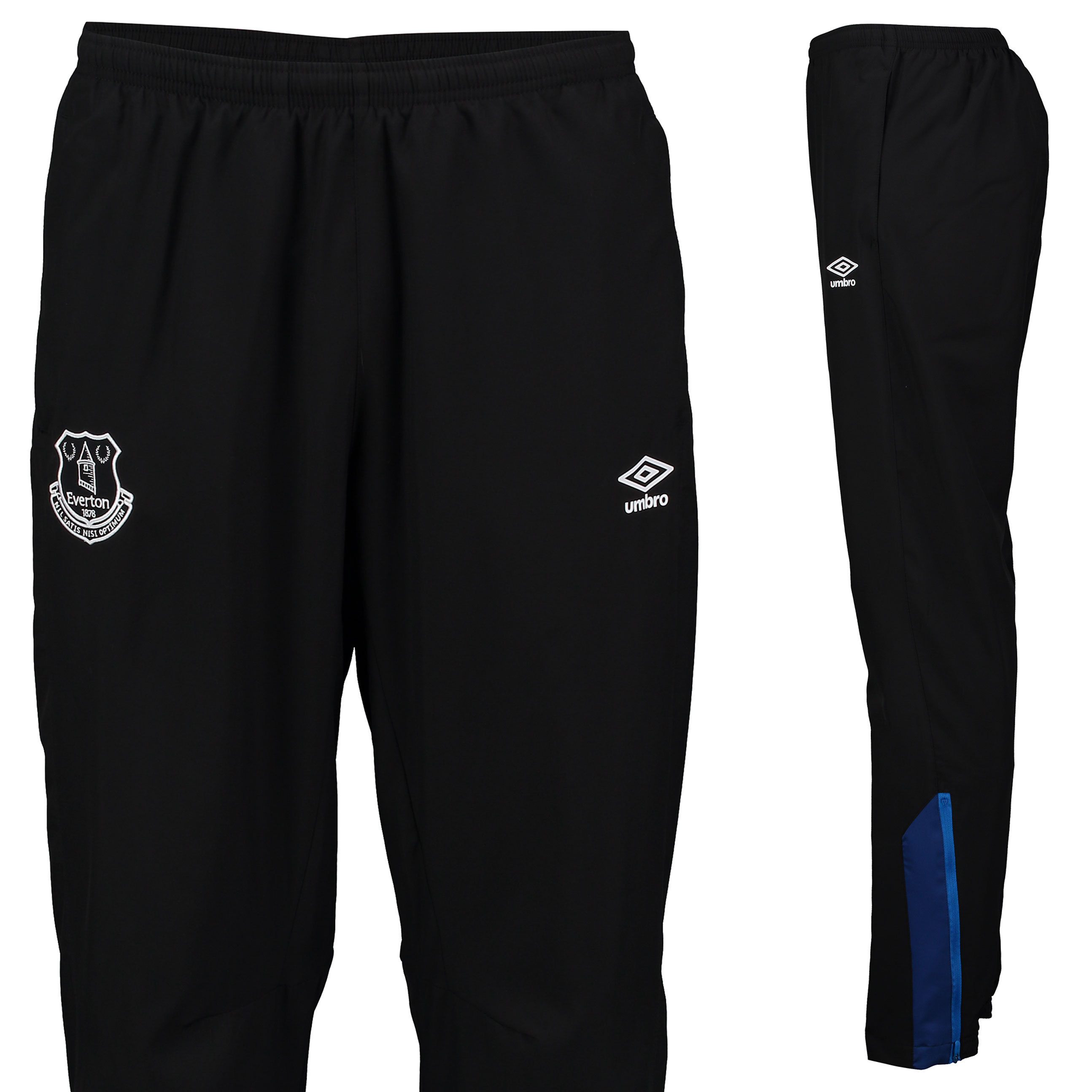 Everton Training Woven Pant - Junior - Black/Sodalite Blue