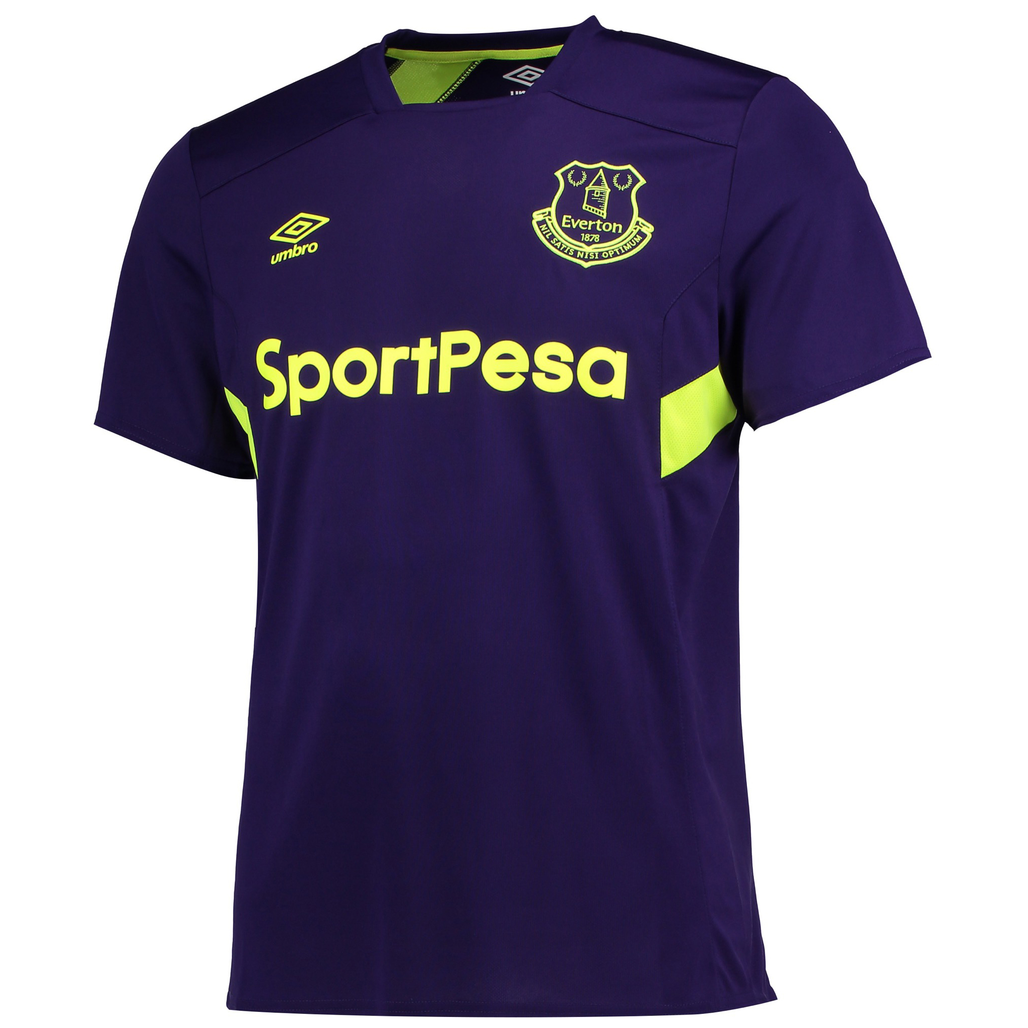 Everton Training Jersey - Parachute Purple/Safety Yellow