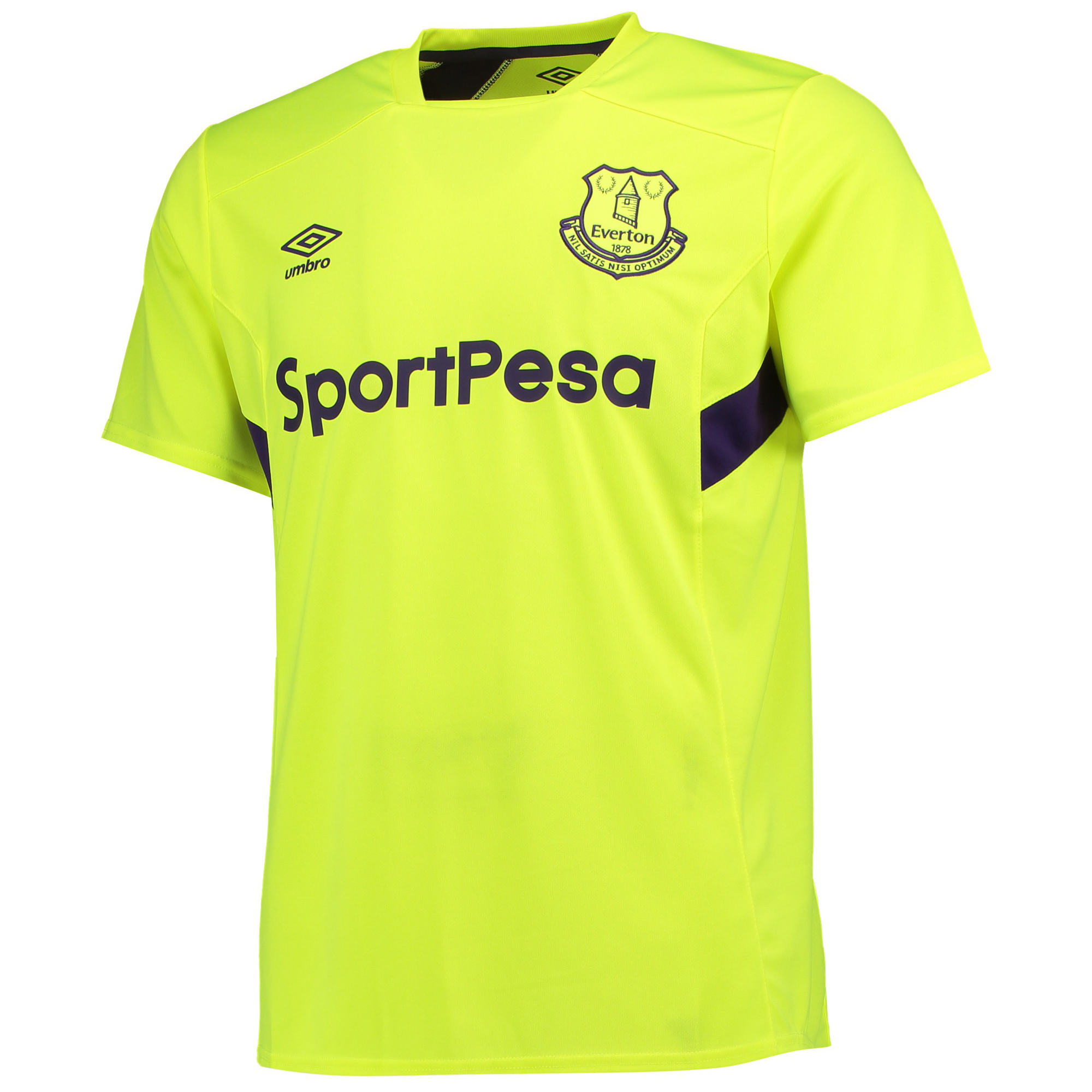 Everton Training Jersey - Safety Yellow/Parachute Purple