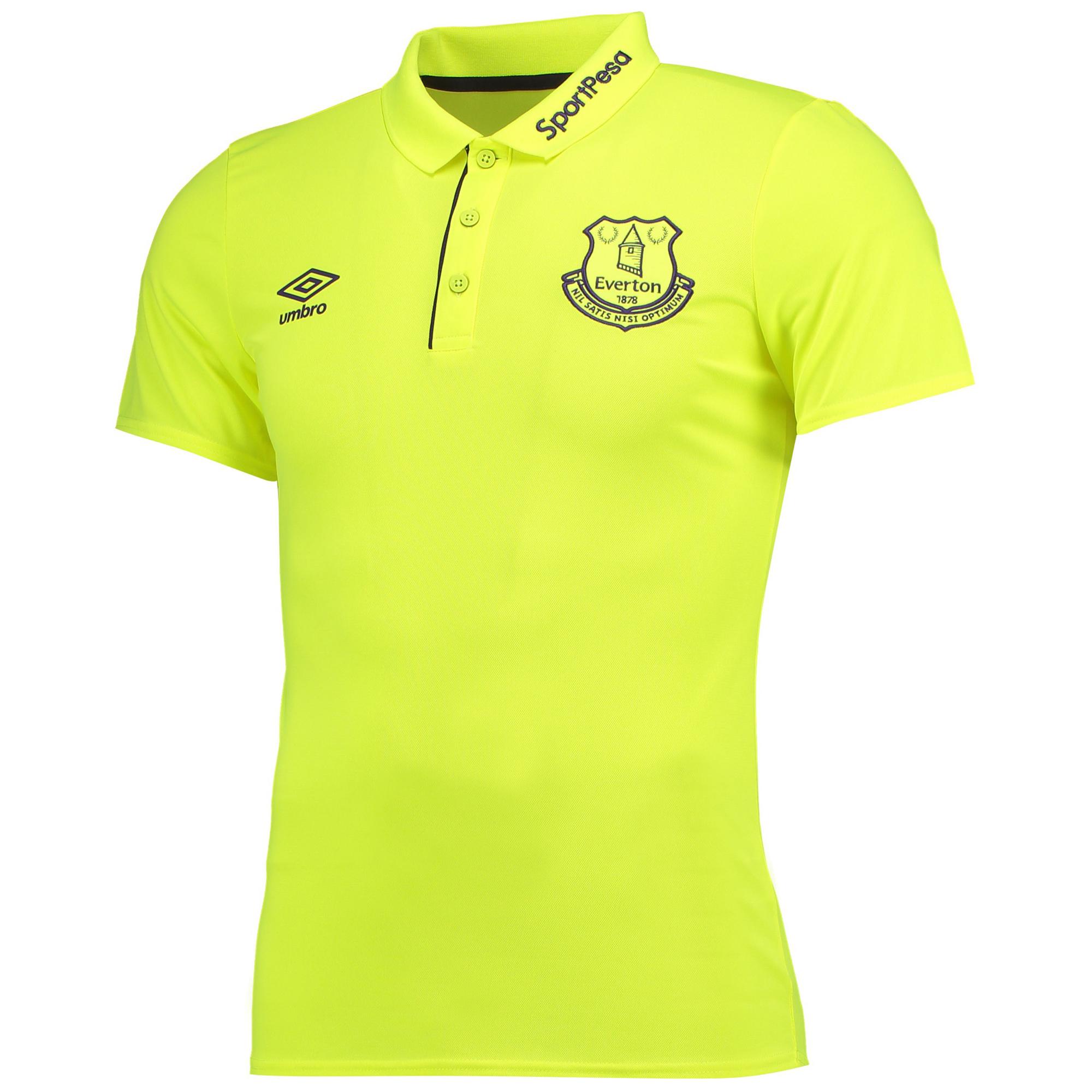 Everton Training Poly Polo - Safety Yellow/Parachute Purple