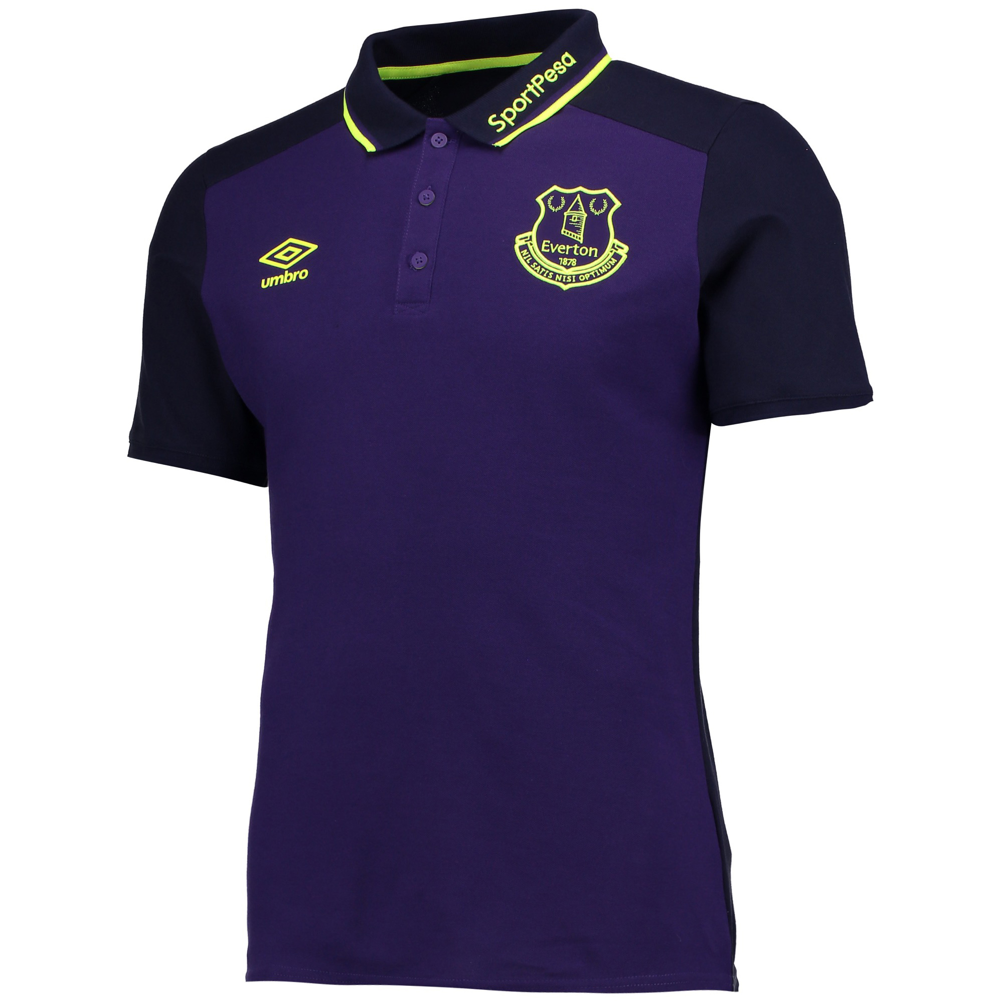 Everton Training CVC Polo - Parachute Purple/Evening Blue