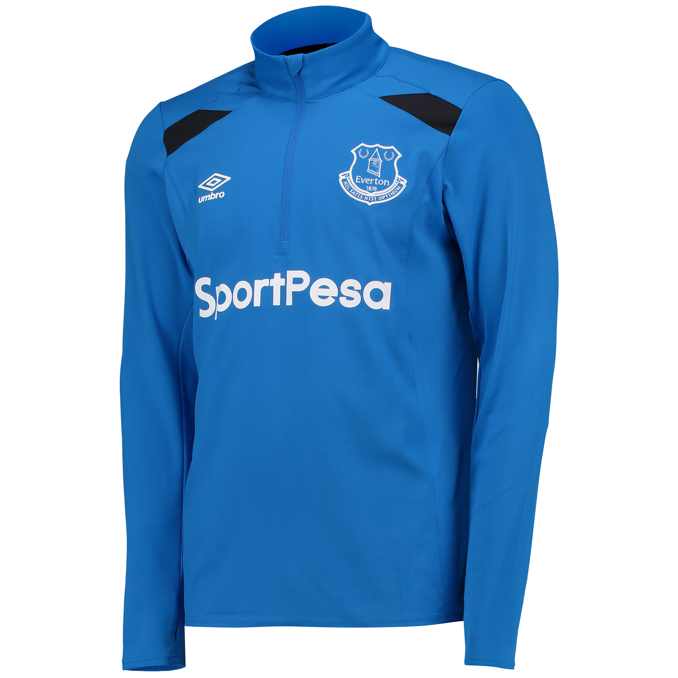 Everton Training Half Zip Top - Electric Blue/Black