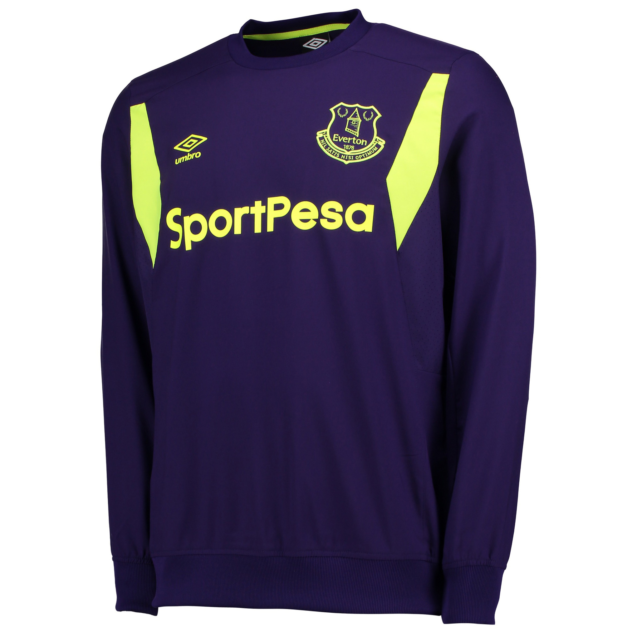 Everton Training Drill Top - Parachute Purple/Safety Yellow