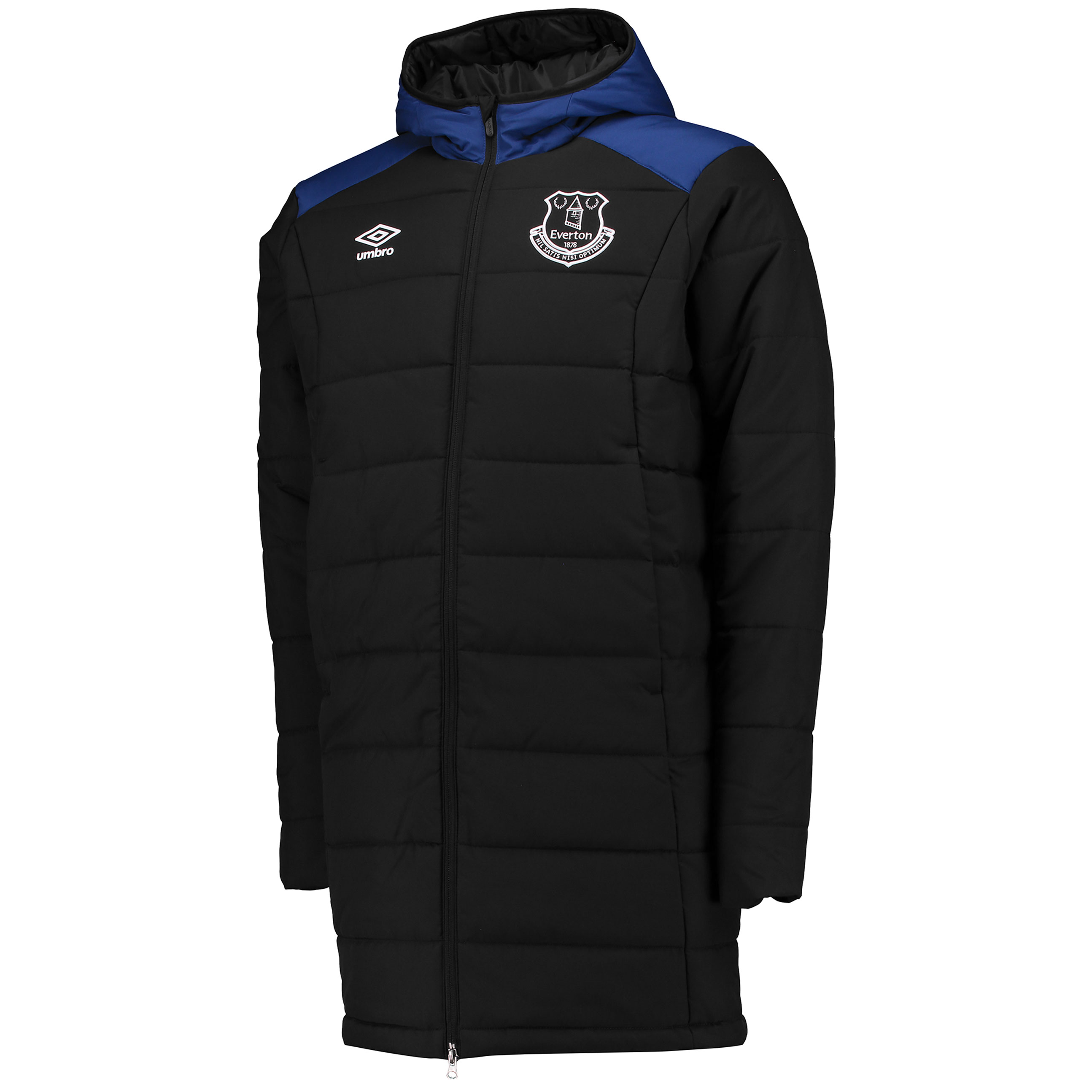 Everton Training Padded Jacket - Black/Sodalite Blue